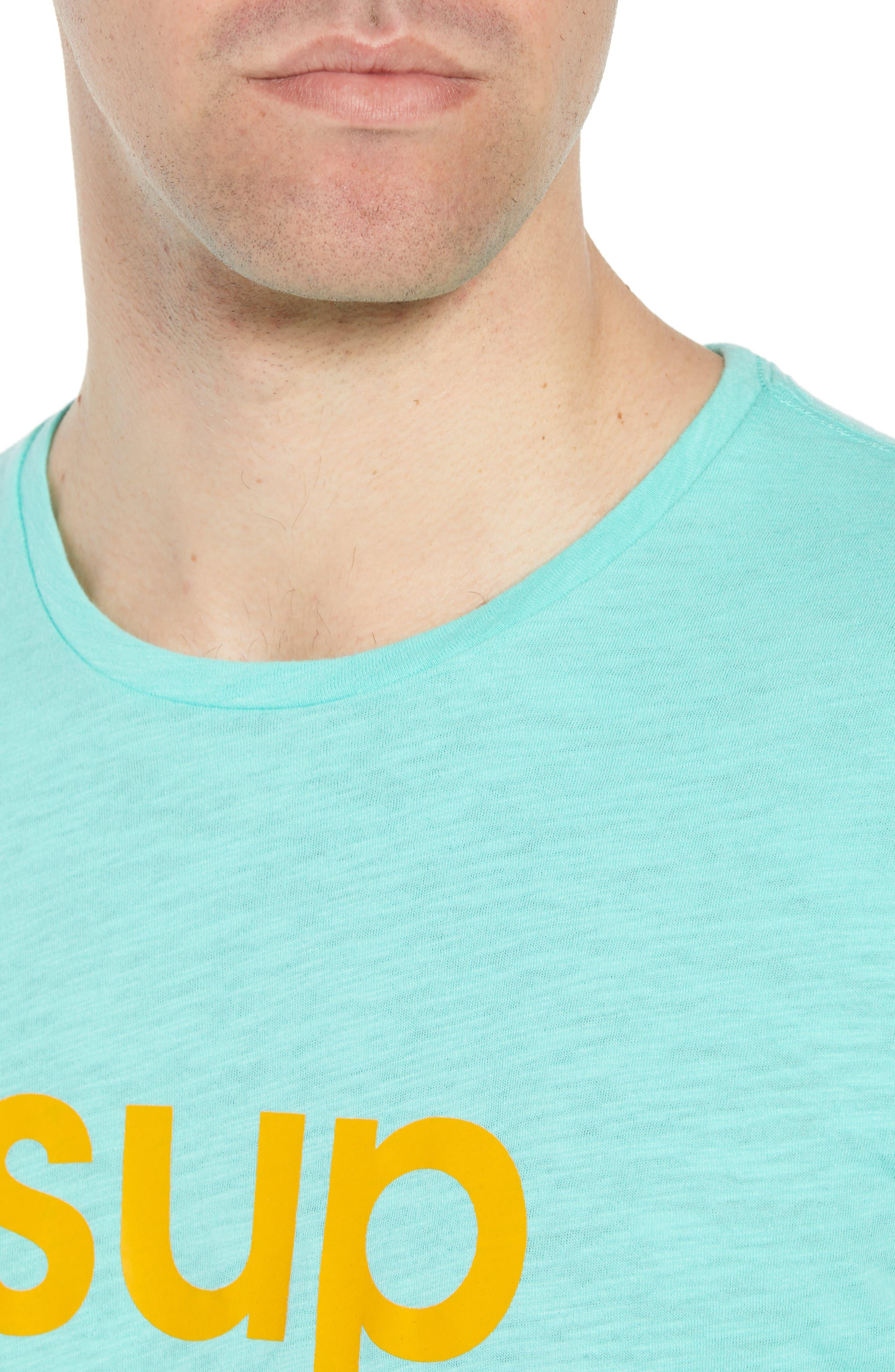 Sup Slub T-Shirt,                             Alternate thumbnail 4, color,                             Sup Bermuda Green