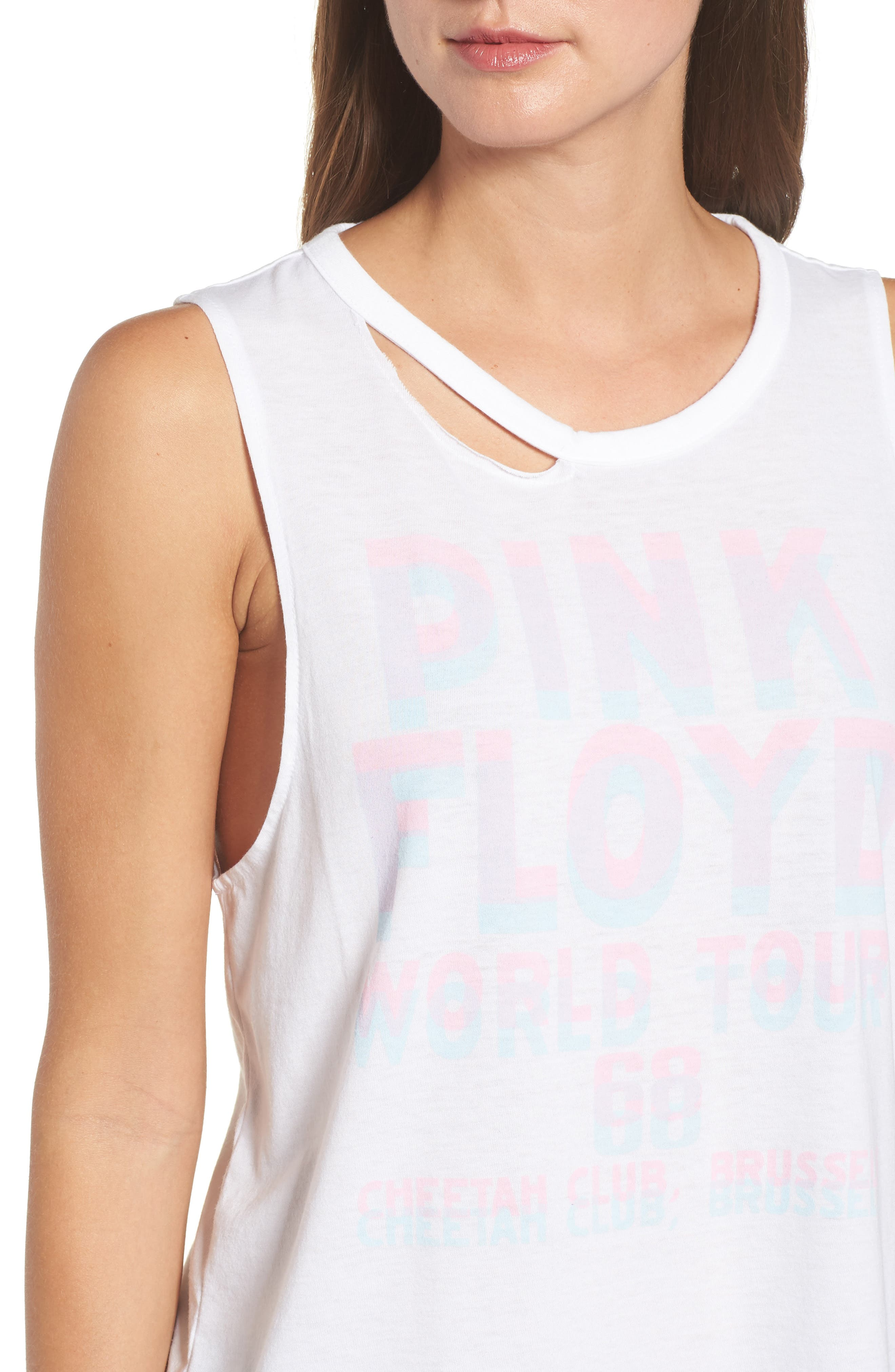 Pink Floyd Strappy Back Tank,                             Alternate thumbnail 4, color,                             Lucky White