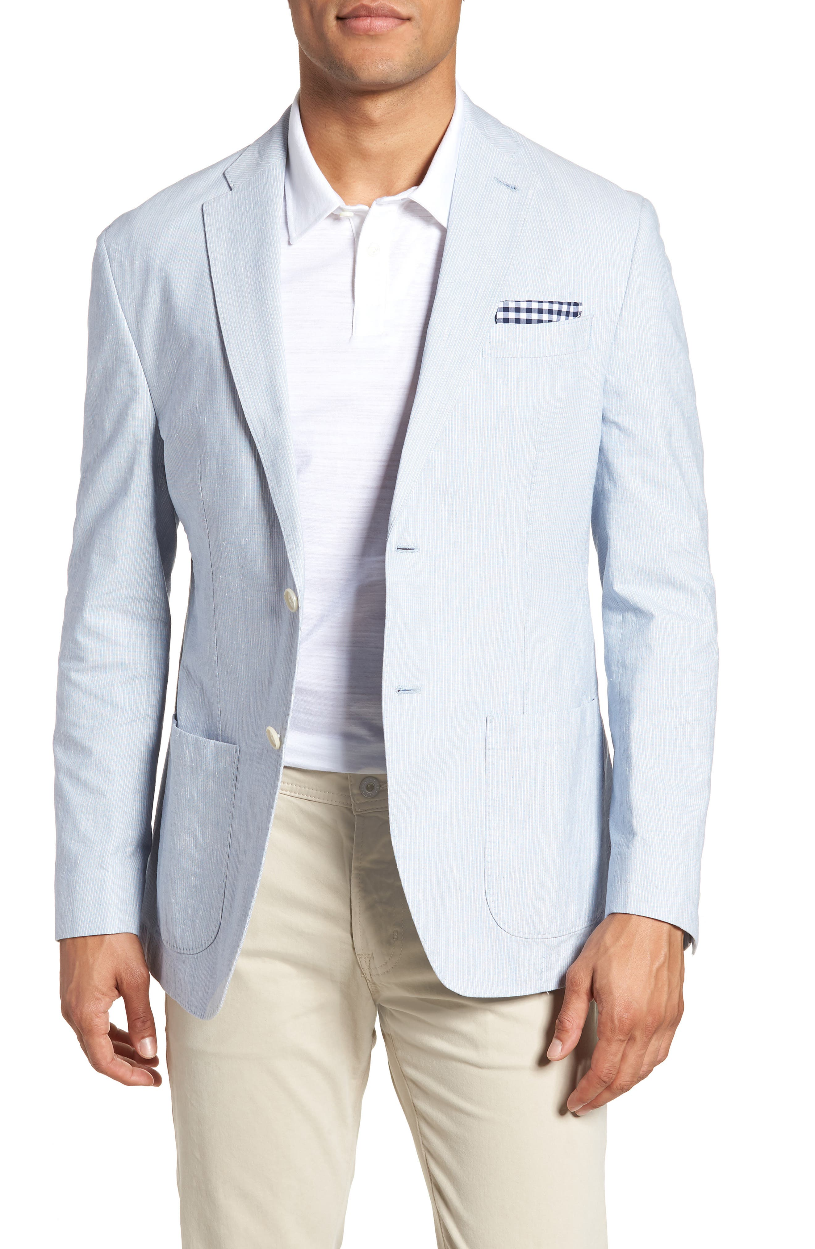 JKT New York Trent Trim Fit Stretch Cotton Blazer