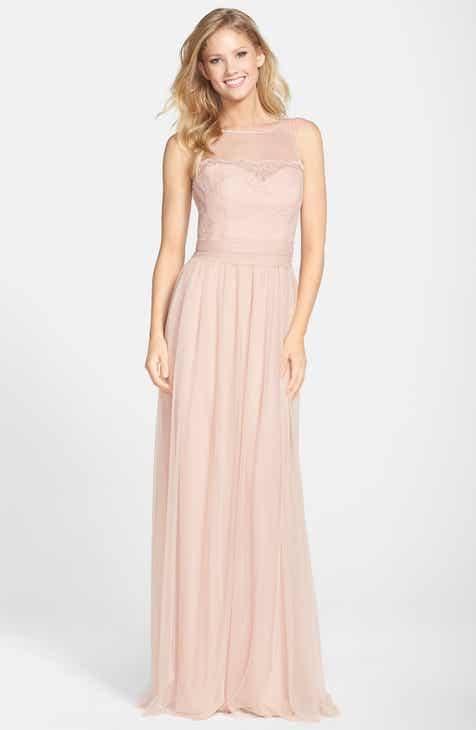 Amsale Lace & Tulle Gown by AMSALE