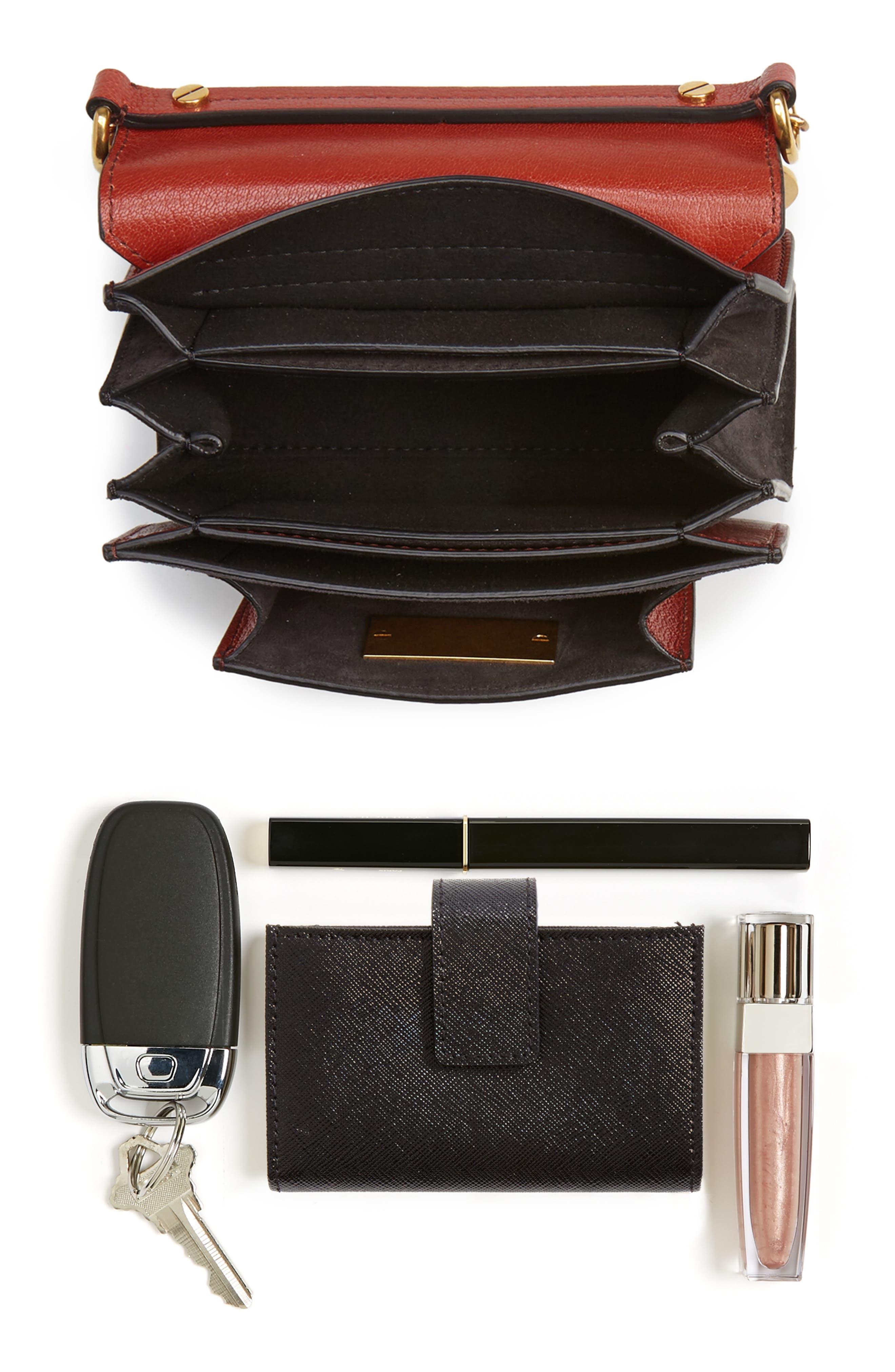 Mini GV3 Leather & Suede Crossbody Bag,                             Alternate thumbnail 6, color,