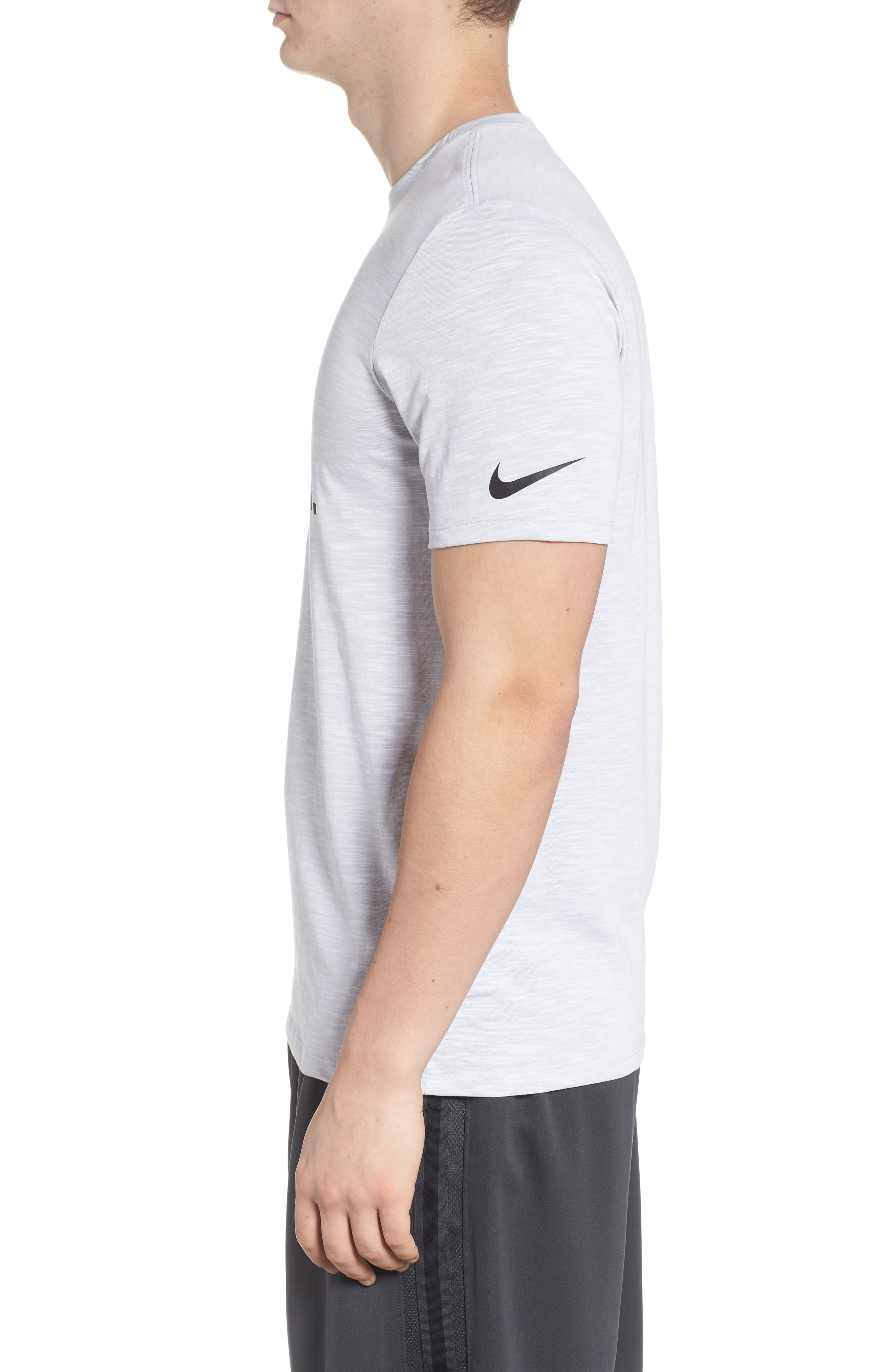 Dry Just Don't Quit T-Shirt,                             Alternate thumbnail 3, color,                             White/ Htr/ Black