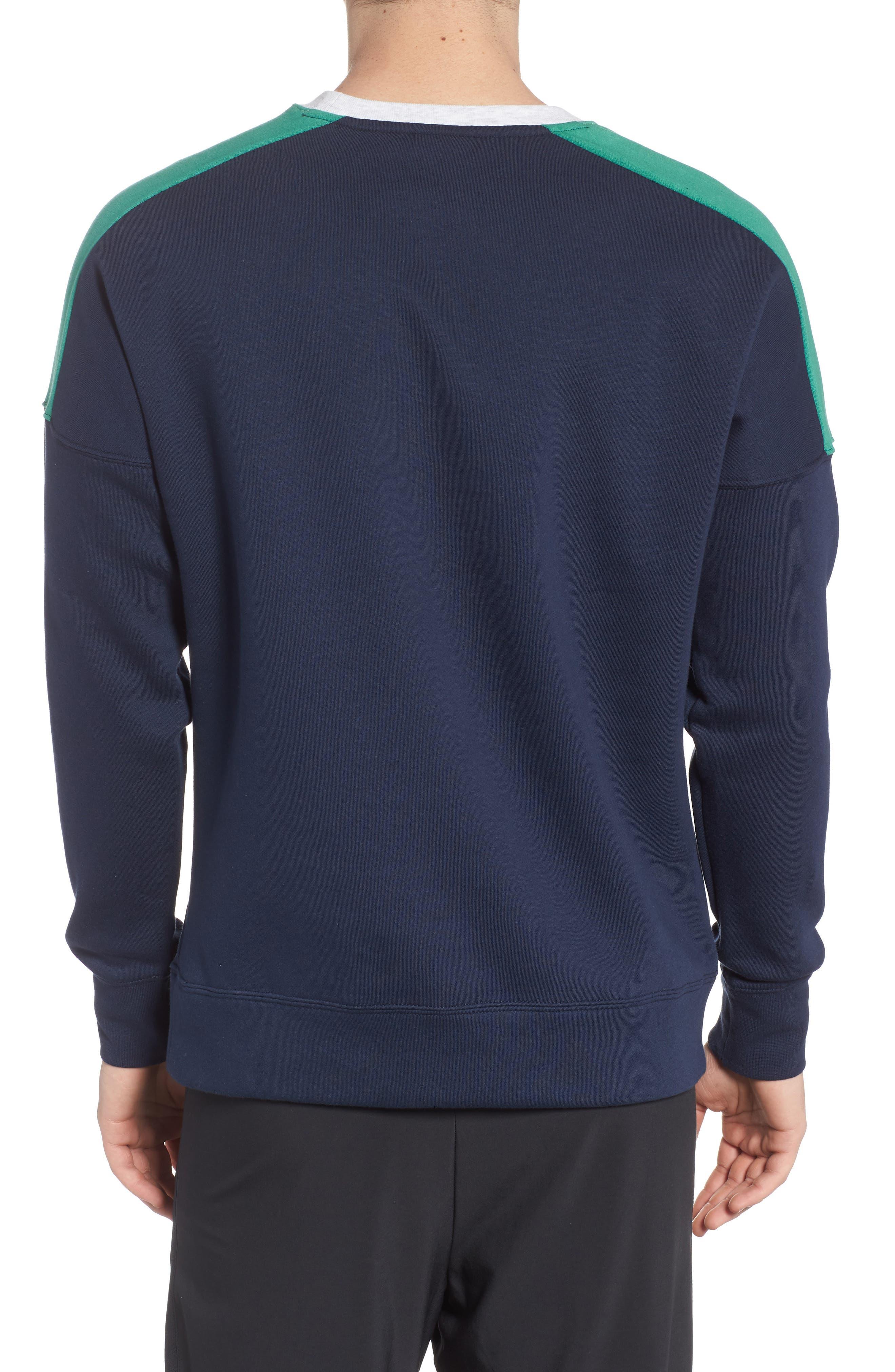 NSW Air Crewneck Sweatshirt,                             Alternate thumbnail 2, color,                             Birch/ Green/ Obsidian/ White