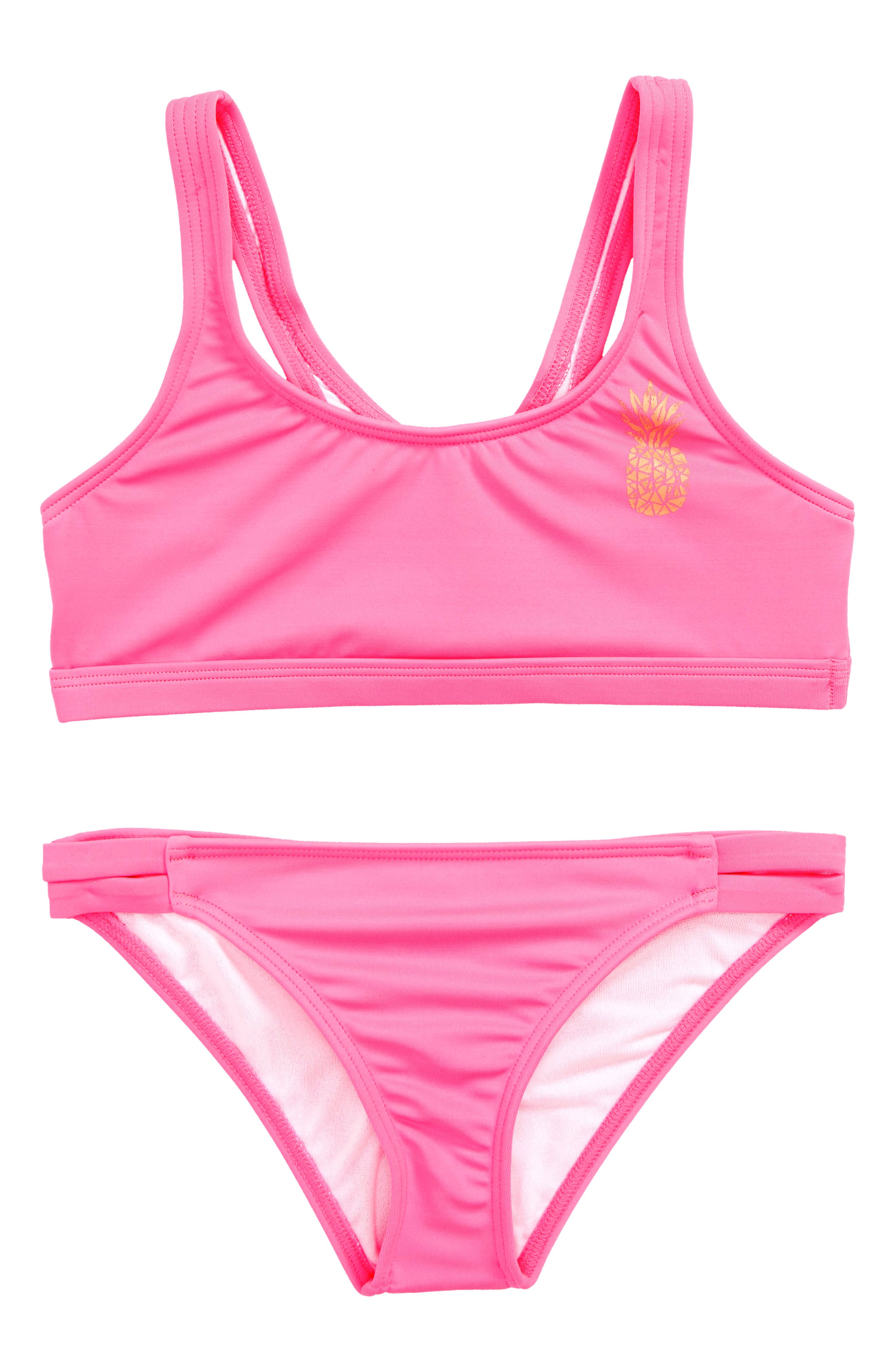 Sol Searcher Two-Piece Swimsuit,                             Main thumbnail 1, color,                             Tahiti Pink