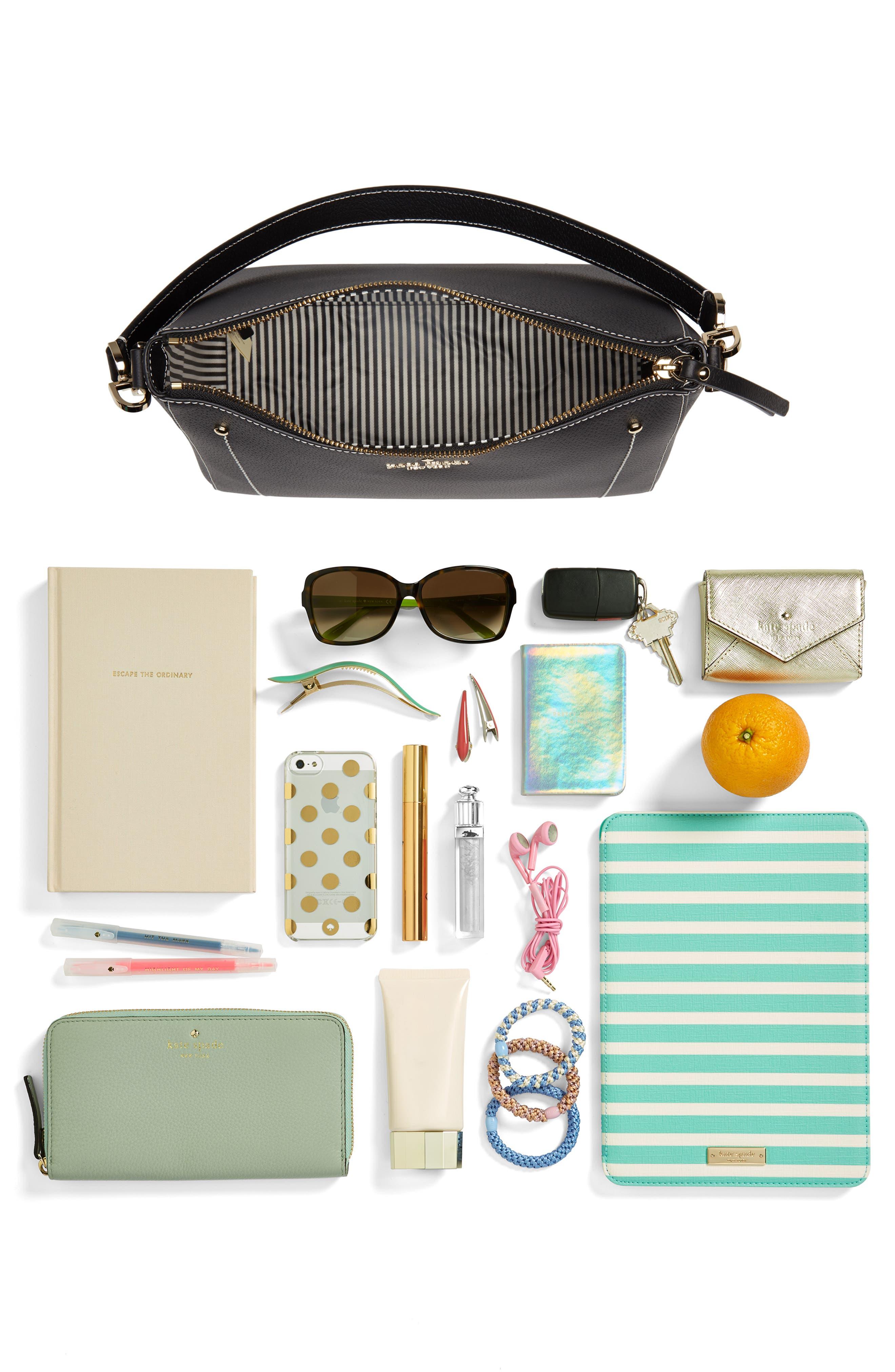 thompson street - marti leather shoulder/crossbody bag,                             Alternate thumbnail 7, color,