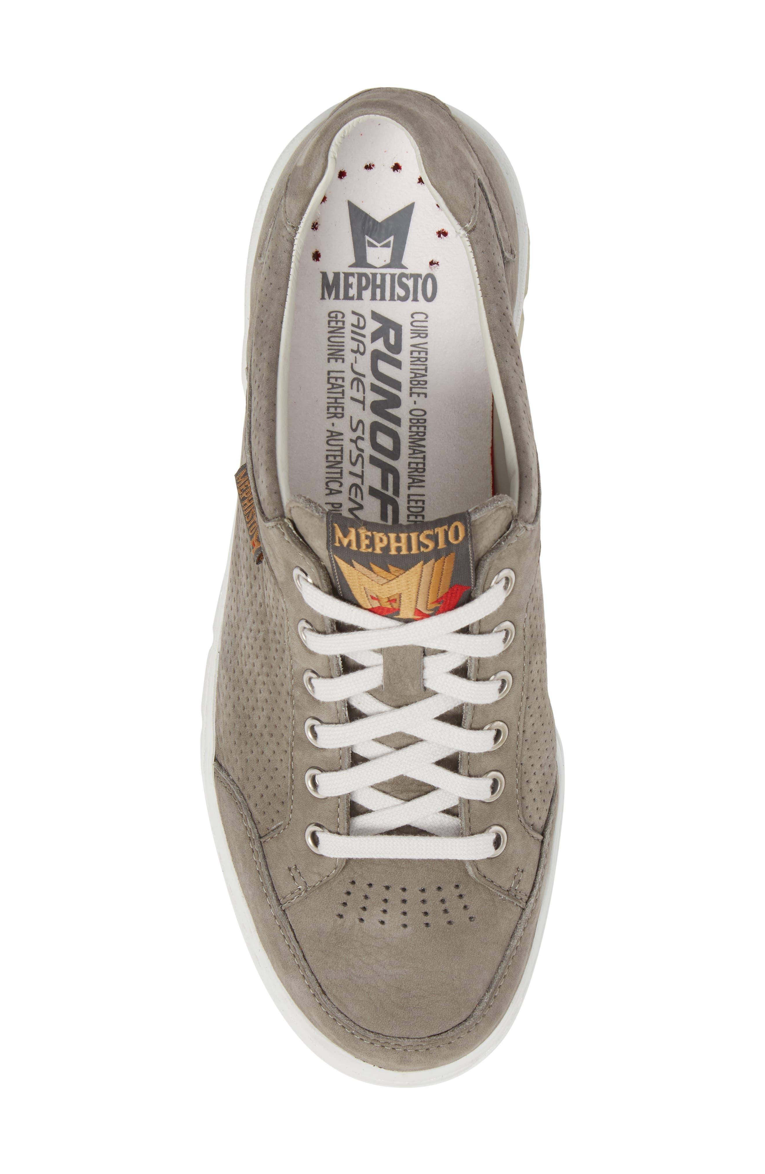 Mathias Perforated Sneaker,                             Alternate thumbnail 5, color,                             Light Grey