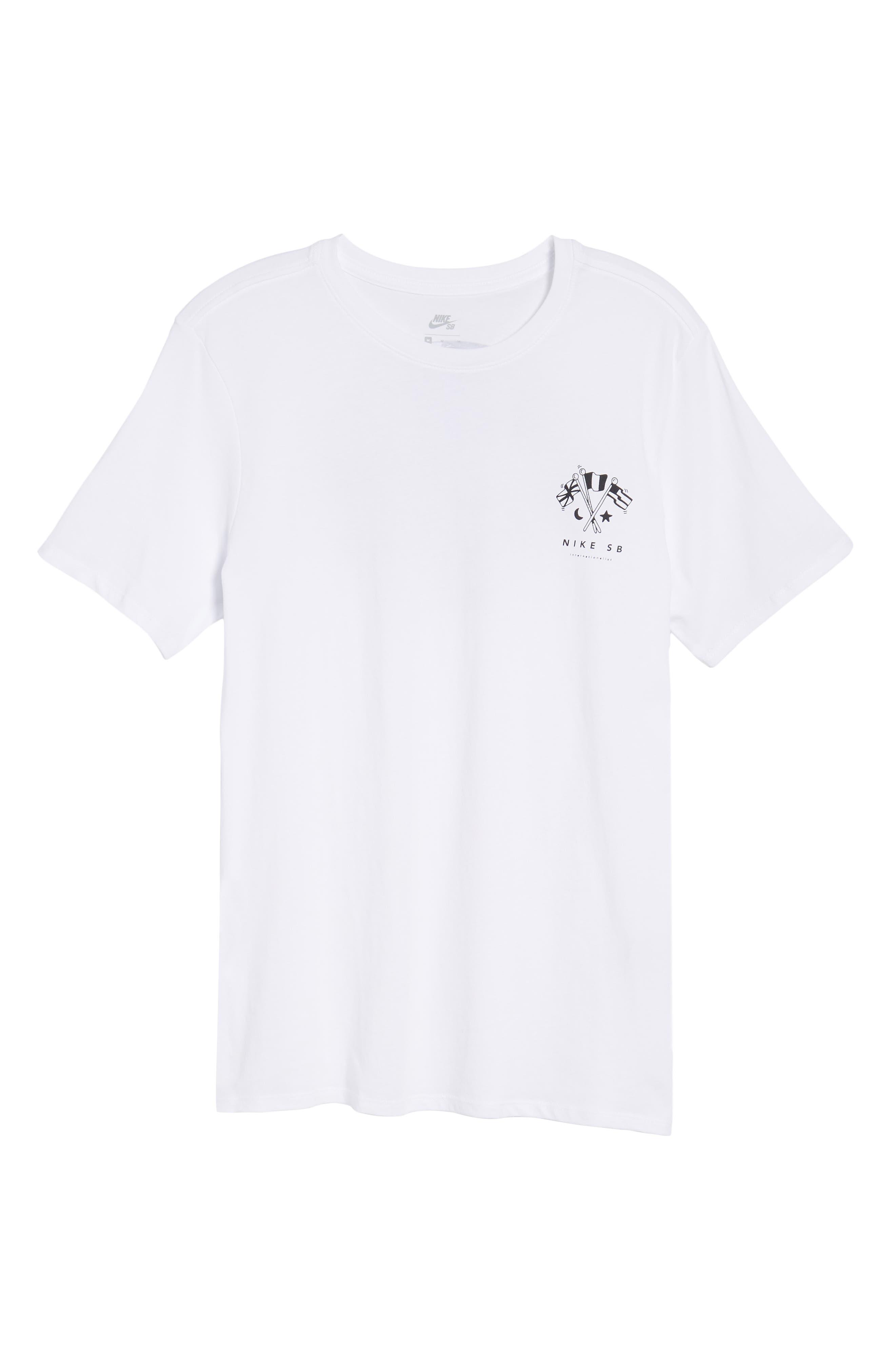 SB Monuments T-Shirt,                             Alternate thumbnail 6, color,                             White/ Black