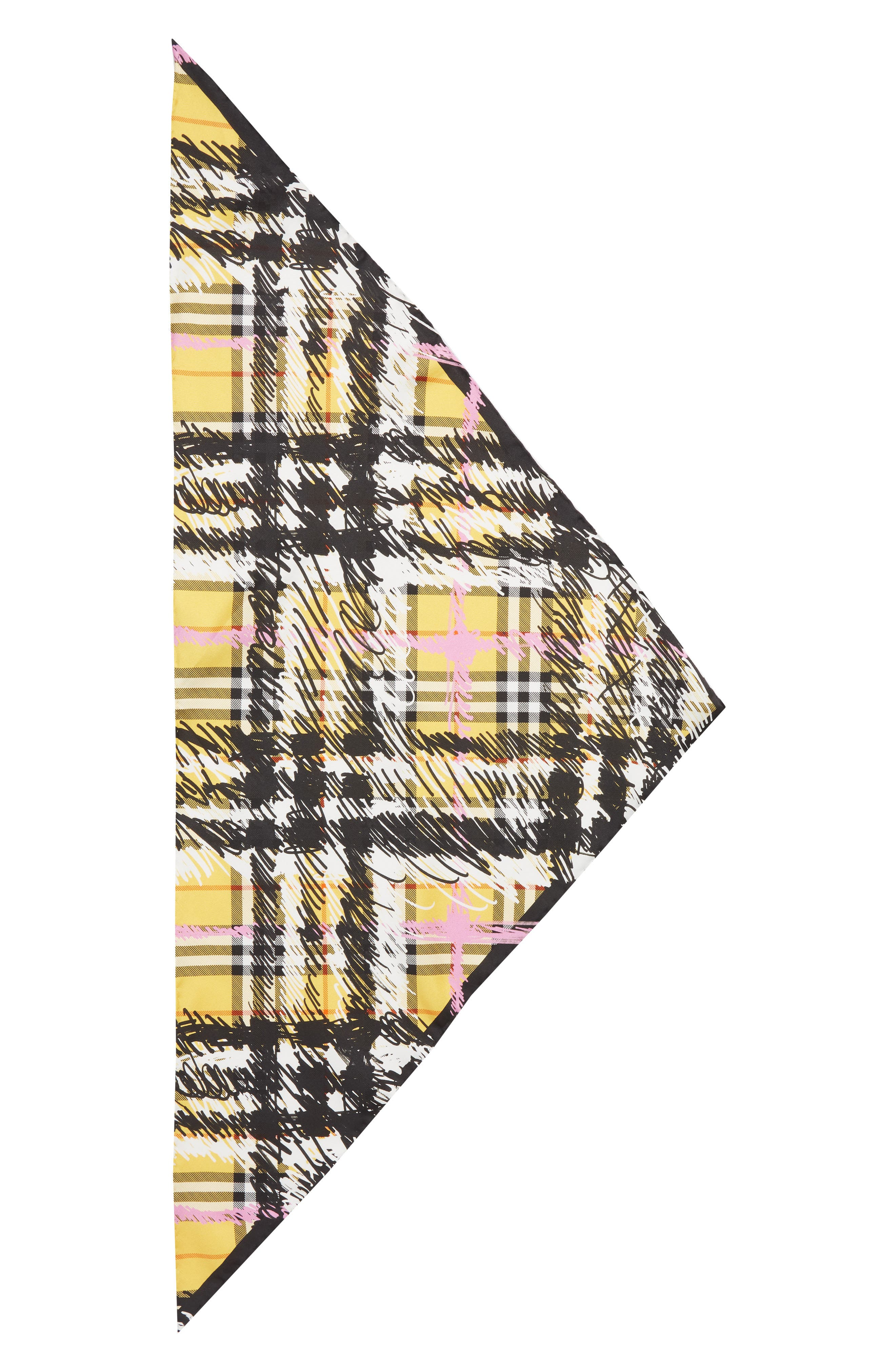 Burberry Scribble Vintage Check Silk Scarf