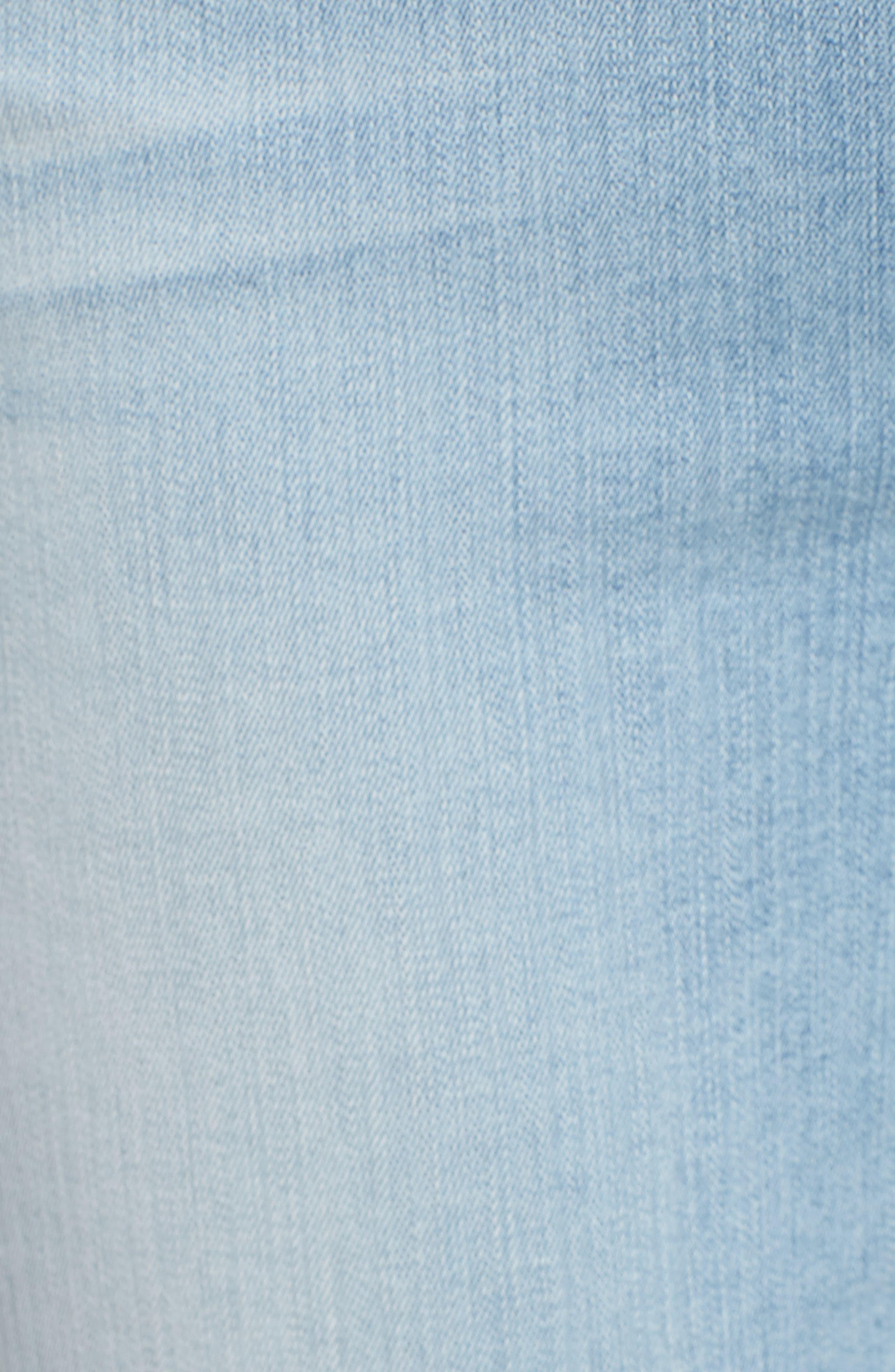 Embroidered Slim Boyfriend Jeans,                             Alternate thumbnail 6, color,                             Riche Touch Playa Vista