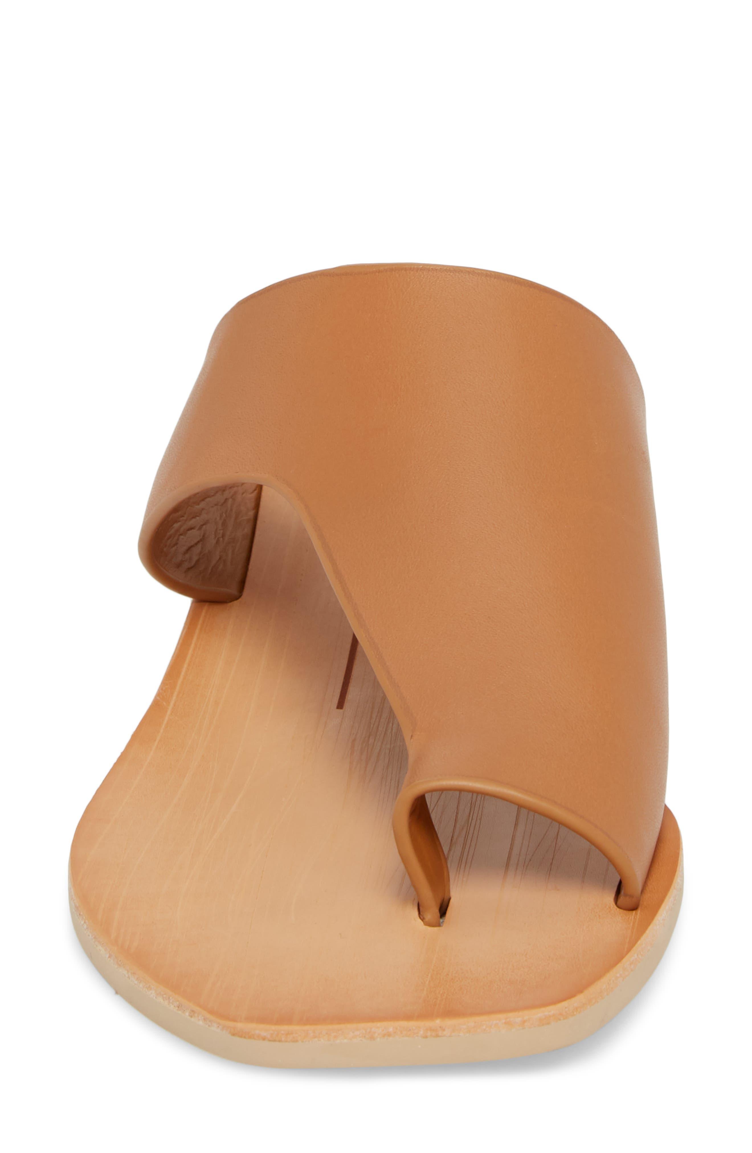 Hazle Asymmetrical Toe Loop Sandal,                             Alternate thumbnail 4, color,                             Caramel