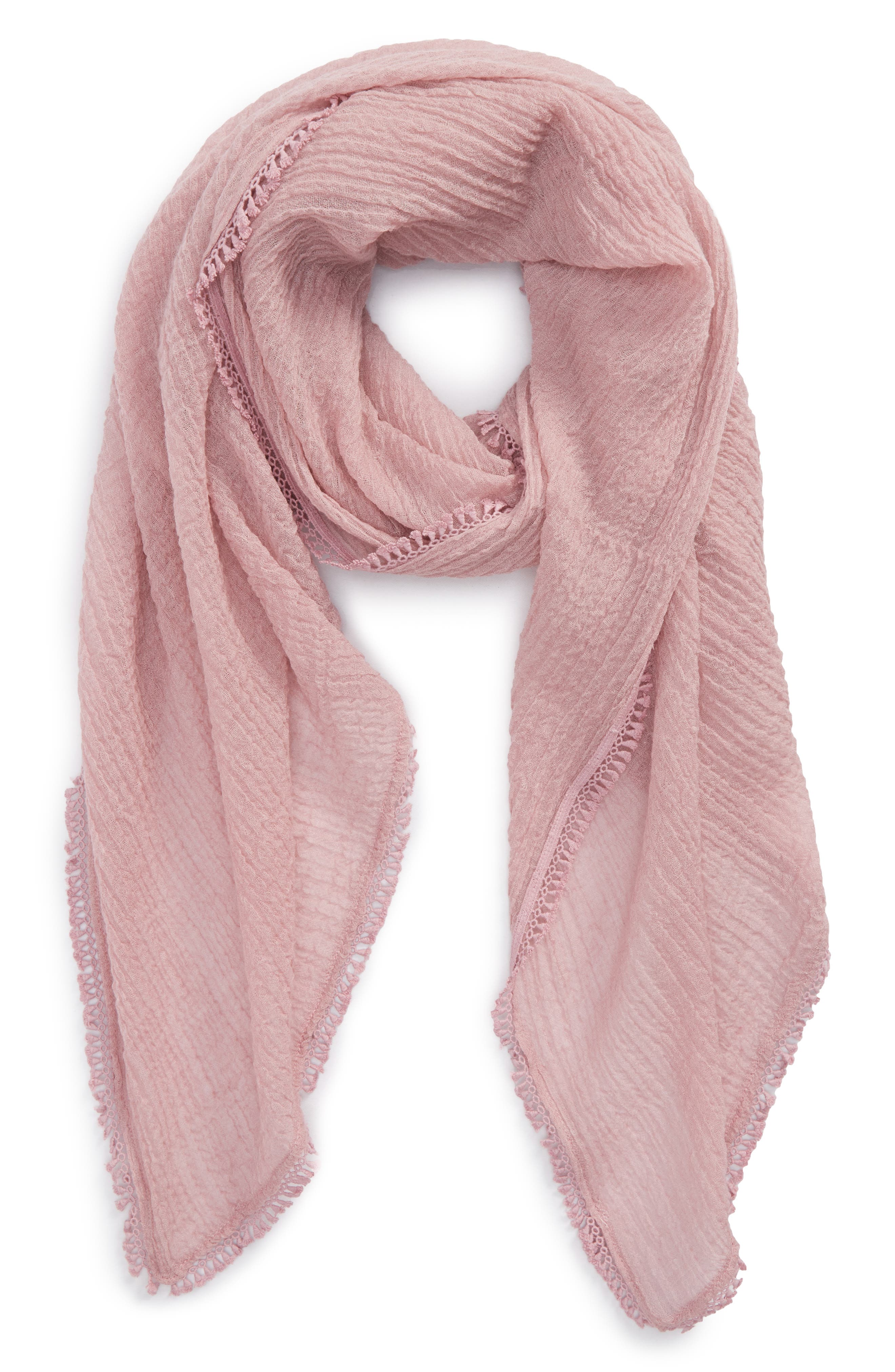 Tassel Wrap,                             Main thumbnail 1, color,                             Pink Zephyr