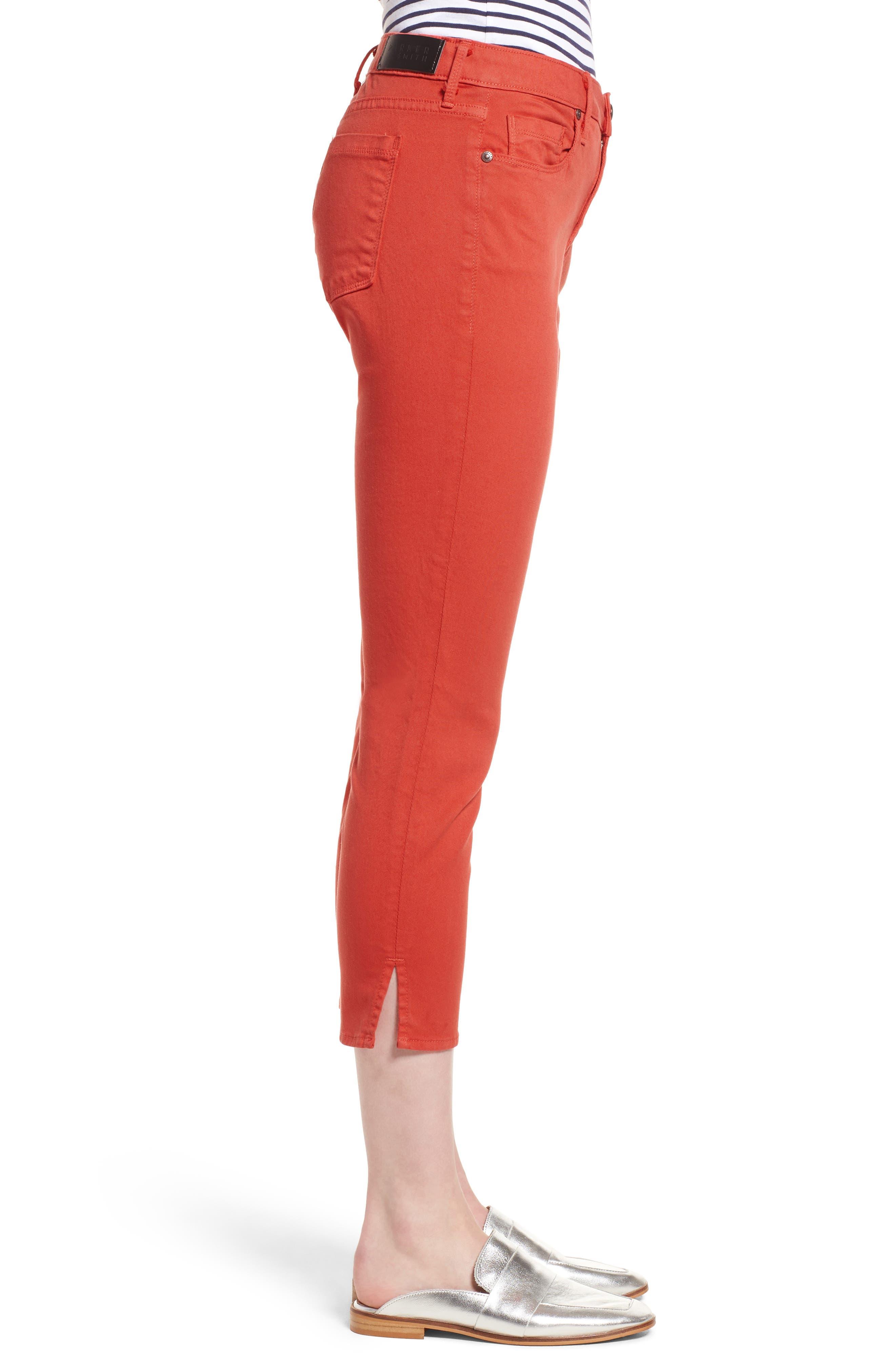 Pedal Pusher Crop Jeans,                             Alternate thumbnail 3, color,                             Sunburst