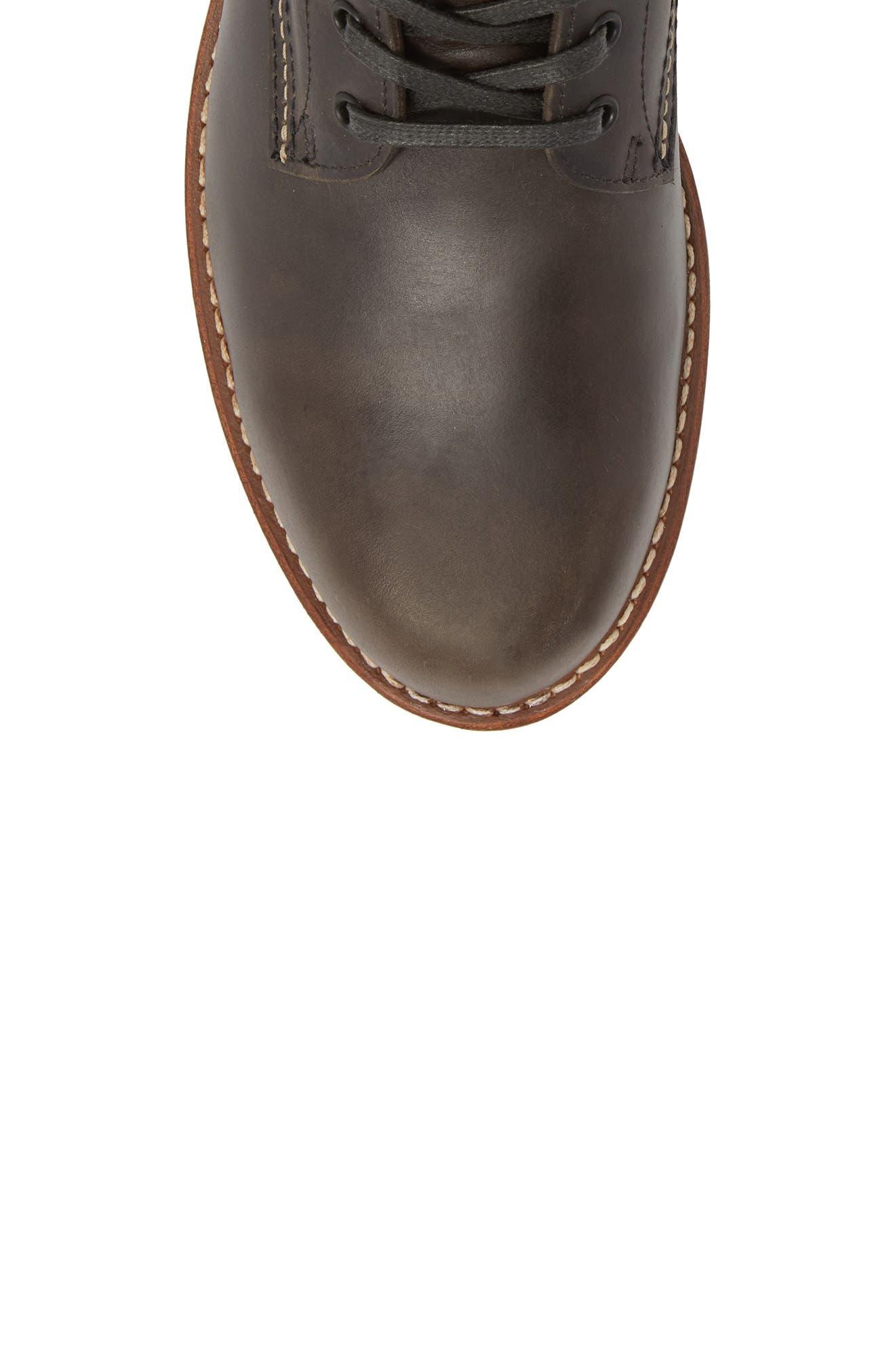 '1000 Mile' Plain Toe Boot,                             Alternate thumbnail 6, color,                             Charcoal