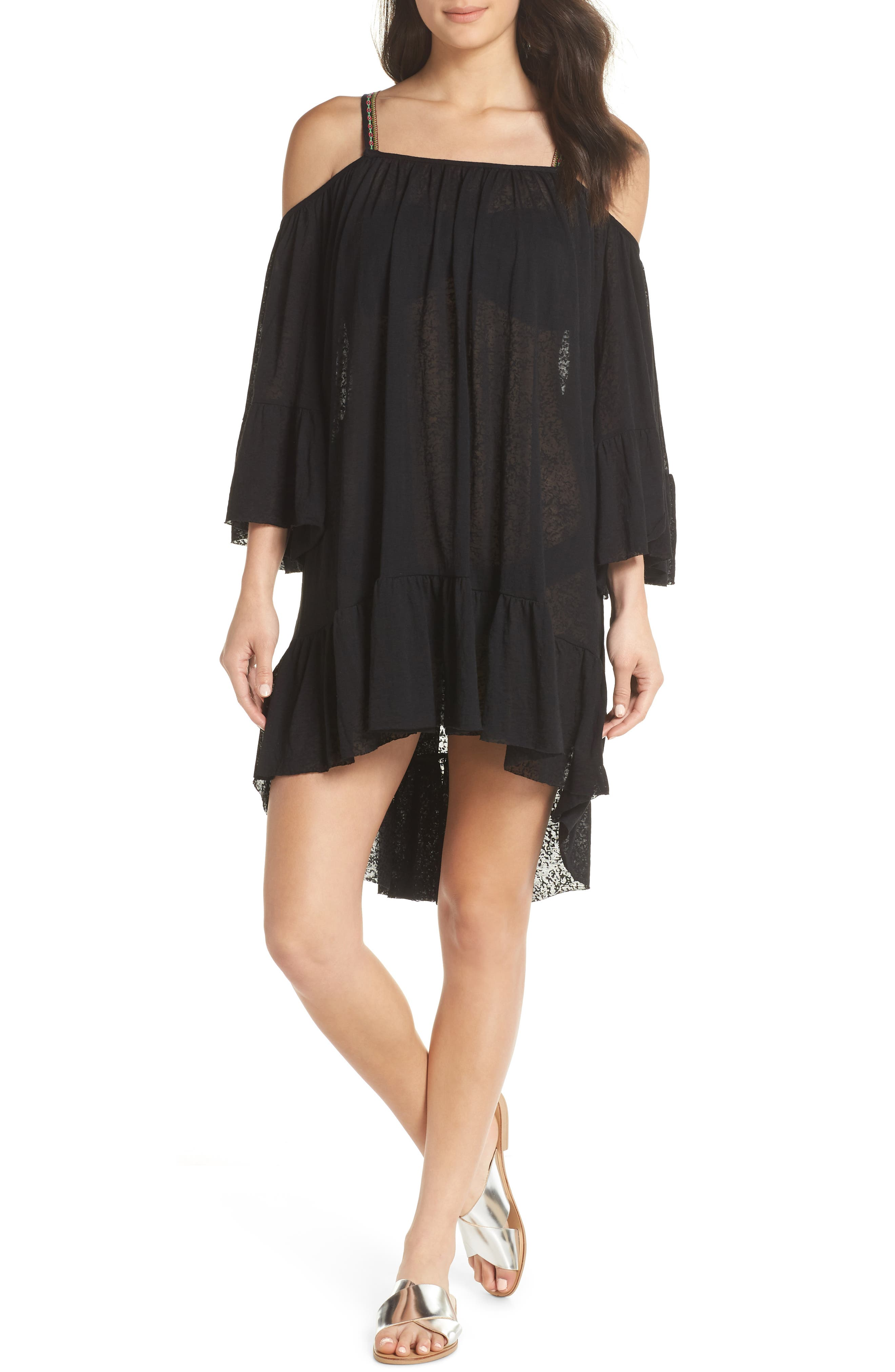 Dancing Cover-Up Dress,                         Main,                         color, Black