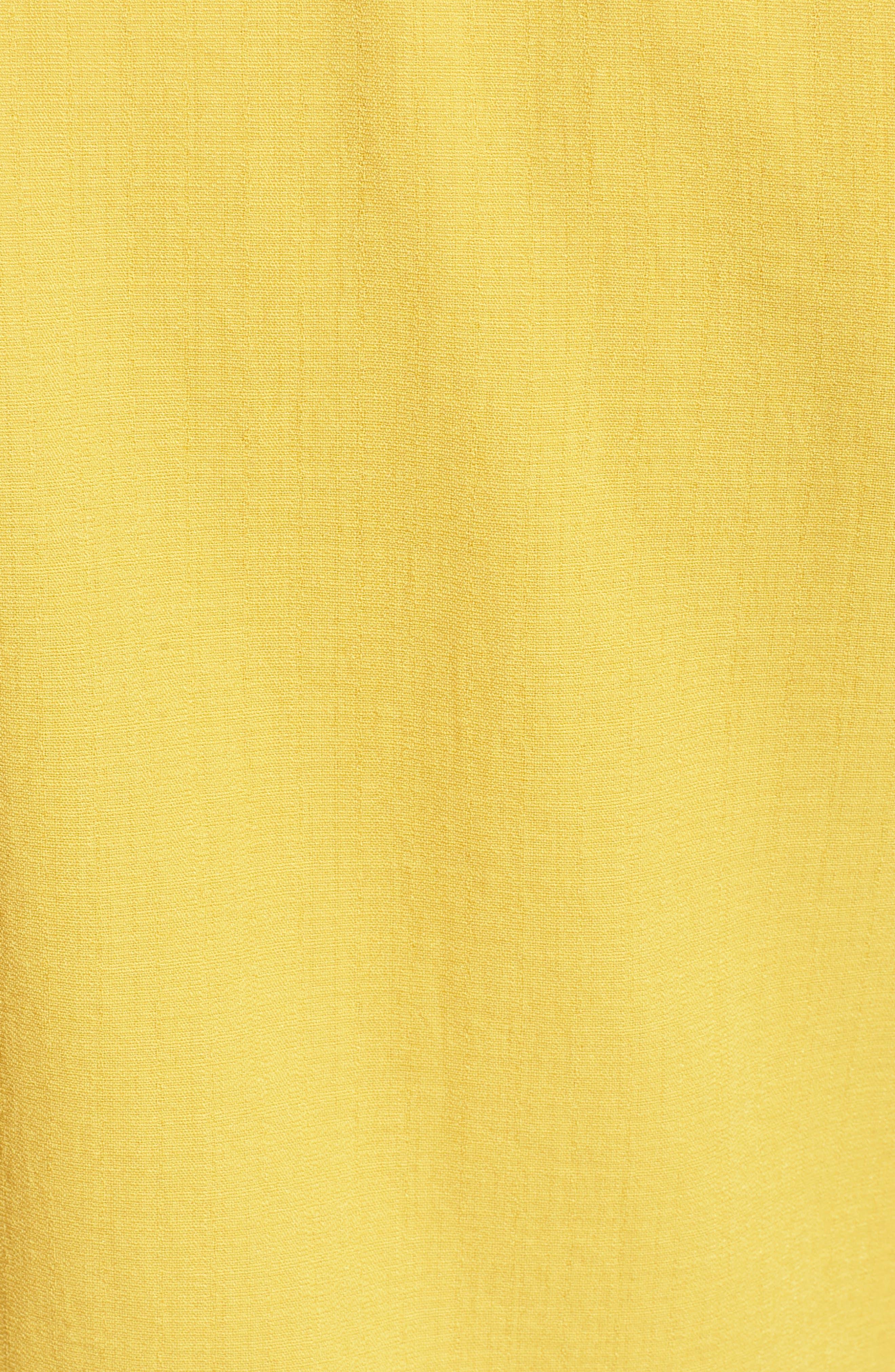 Ruffle Sleeve Crop Top,                             Alternate thumbnail 6, color,                             Marigold
