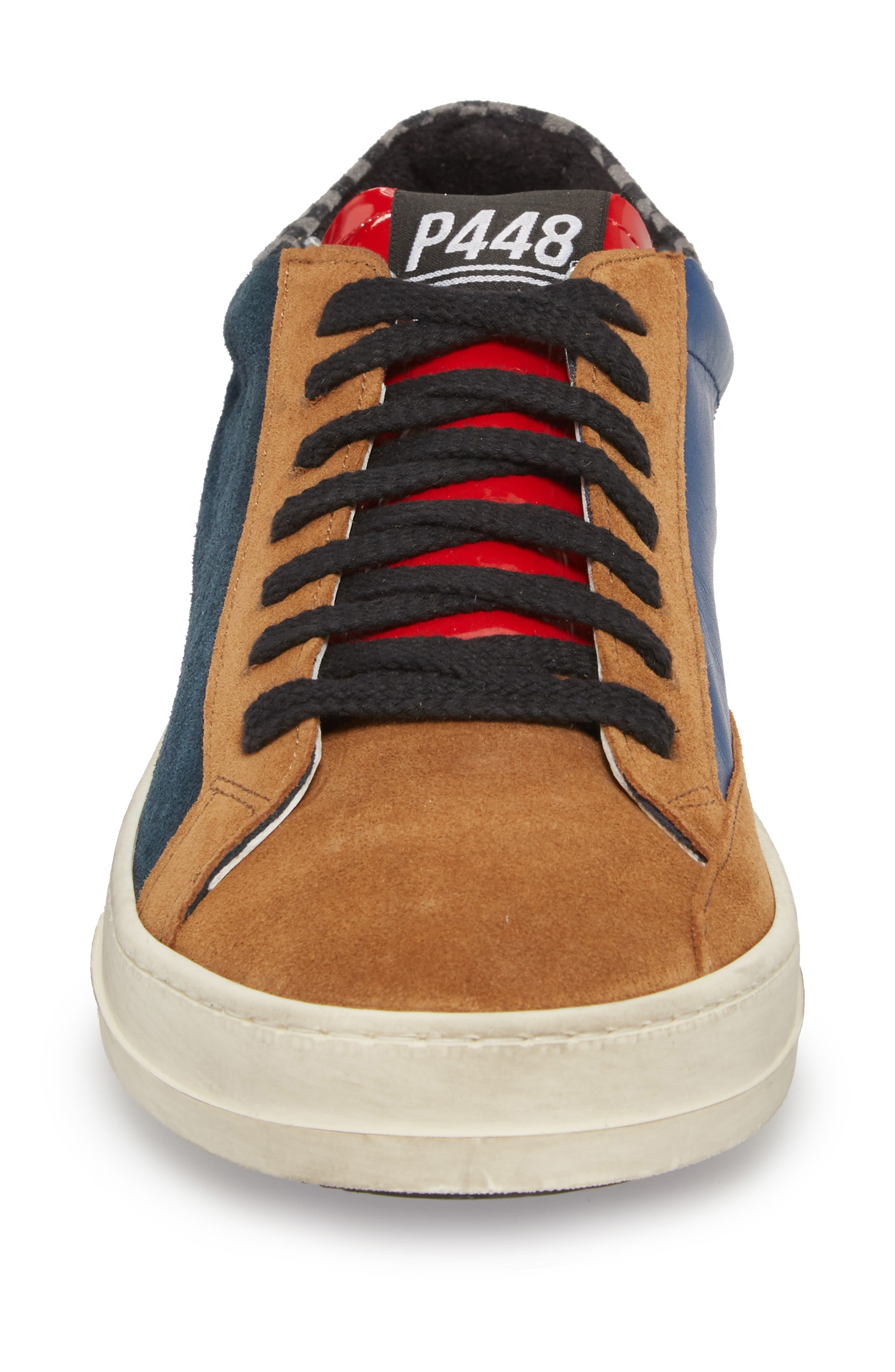 John Mix Low Top Sneaker,                             Alternate thumbnail 4, color,                             Forest Blue