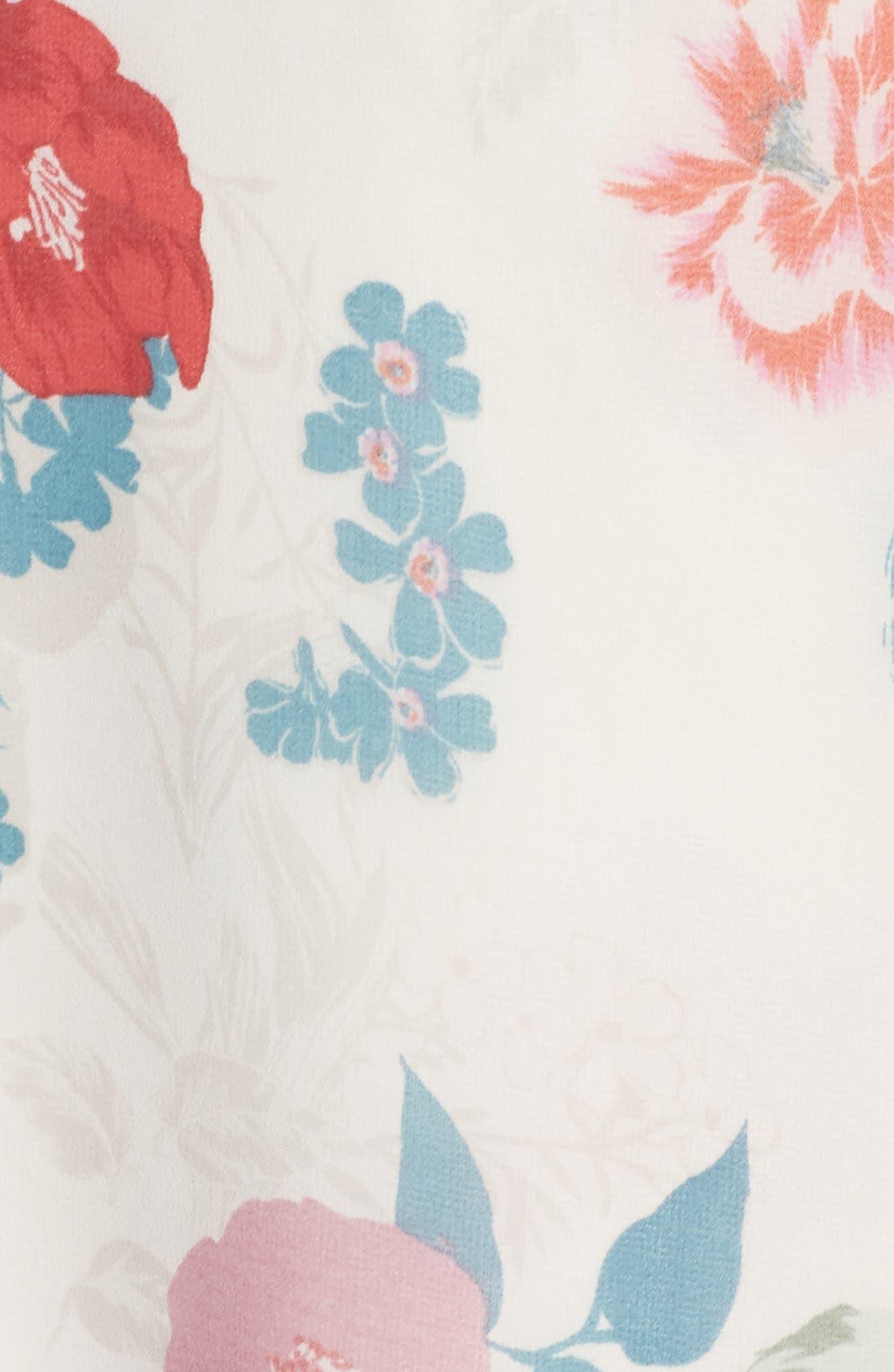 RSVP High/Low Wrap Dress,                             Alternate thumbnail 5, color,                             Ivory