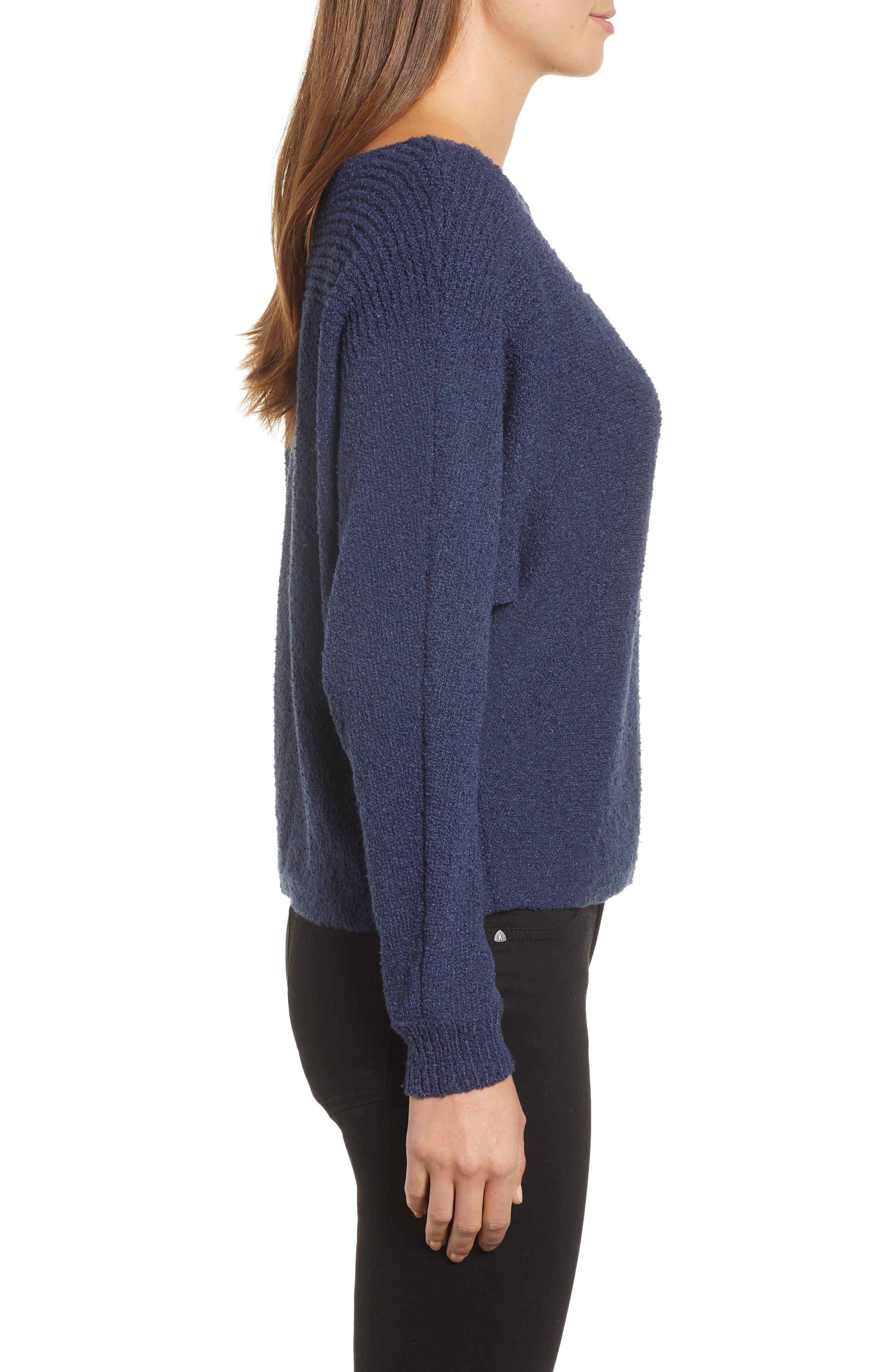 Calson<sup>®</sup> Dolman Sleeve Sweater,                             Alternate thumbnail 3, color,                             Navy Indigo
