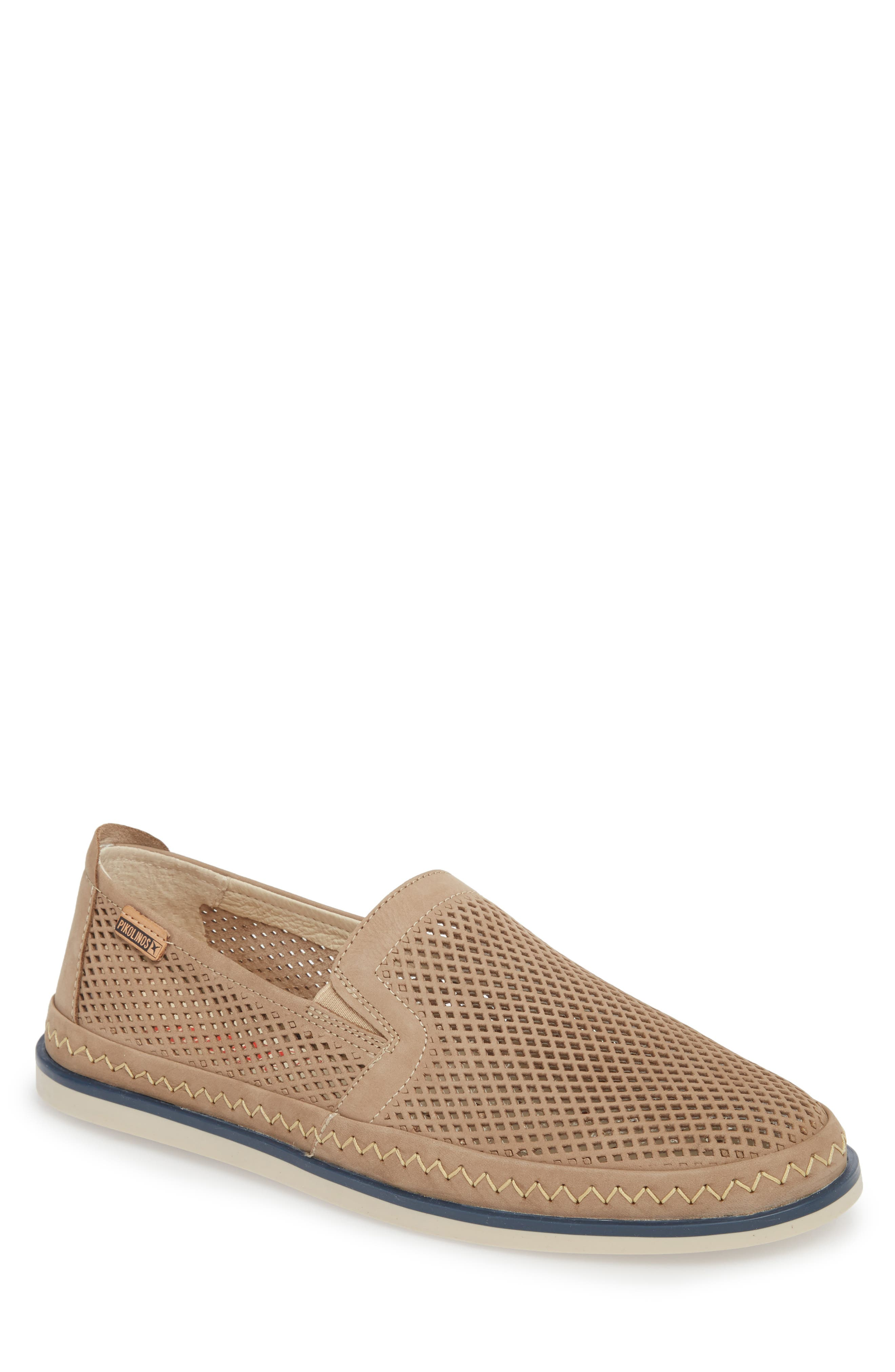 Linares Slip-On Loafer,                             Main thumbnail 1, color,                             Piedra Leather