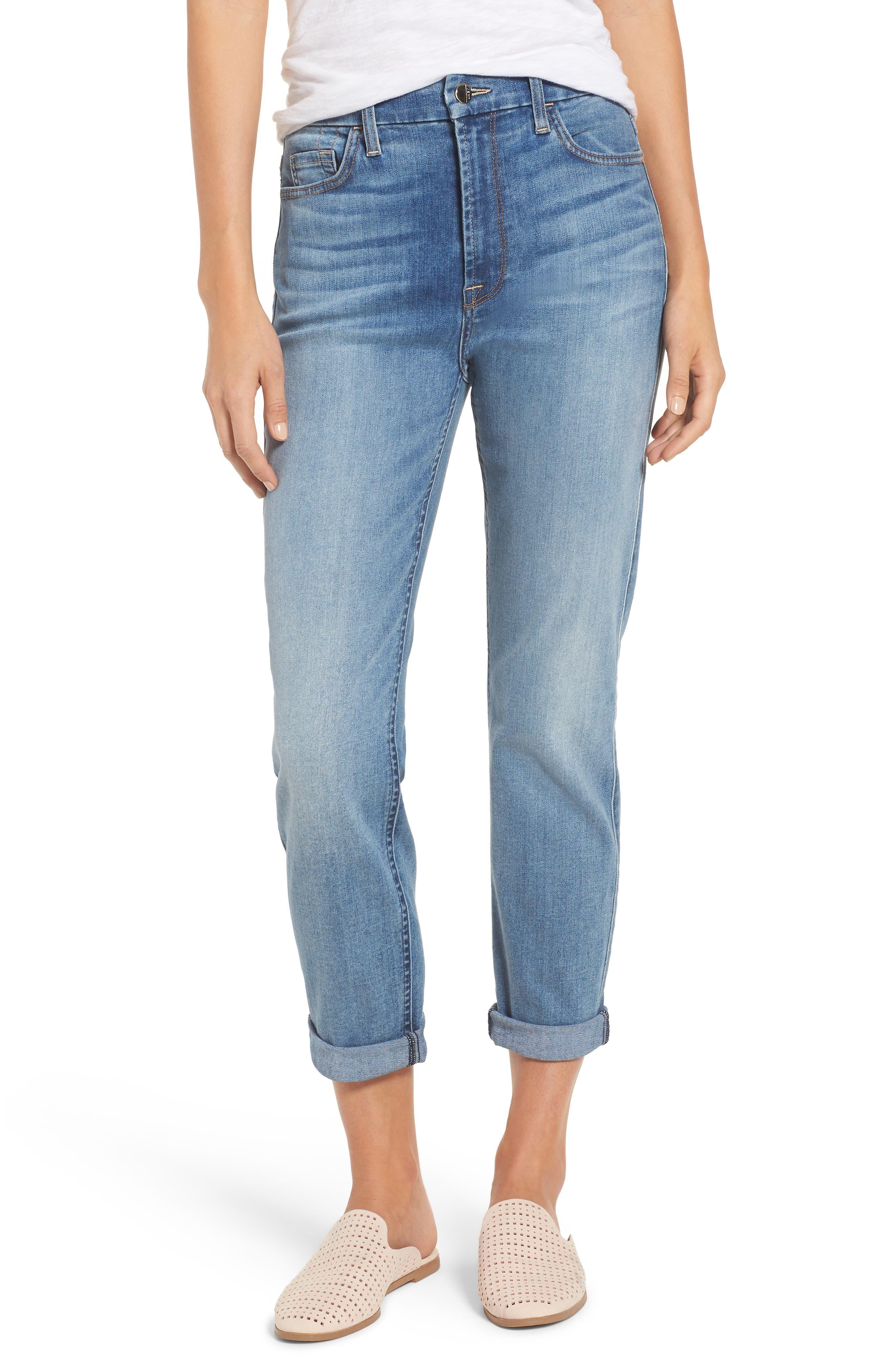 Slim Boyfriend Jeans,                             Main thumbnail 1, color,                             Sunlight