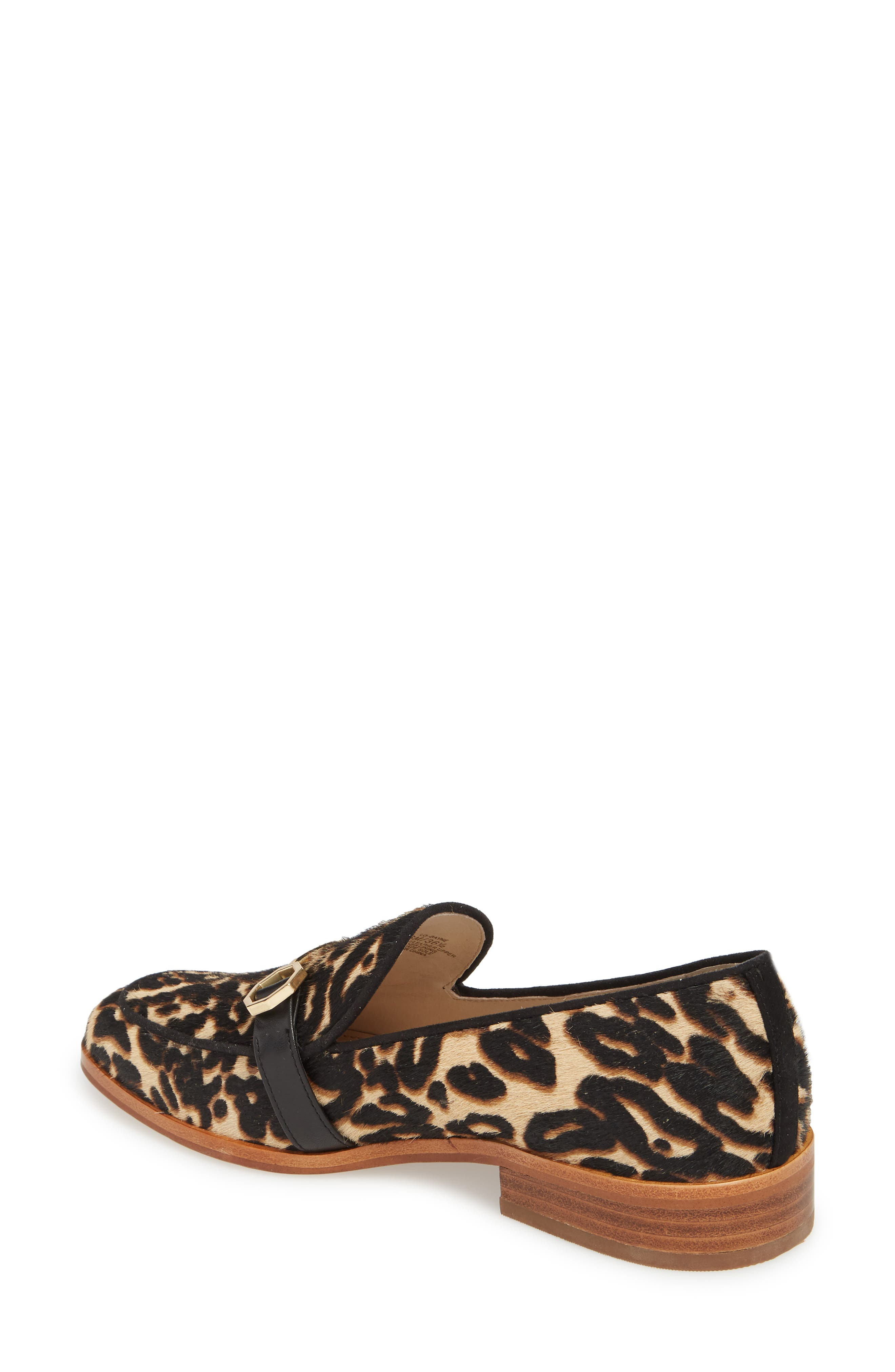 Bayne Genuine Calf Hair Loafer,                             Alternate thumbnail 2, color,                             Leopard Pony Hair