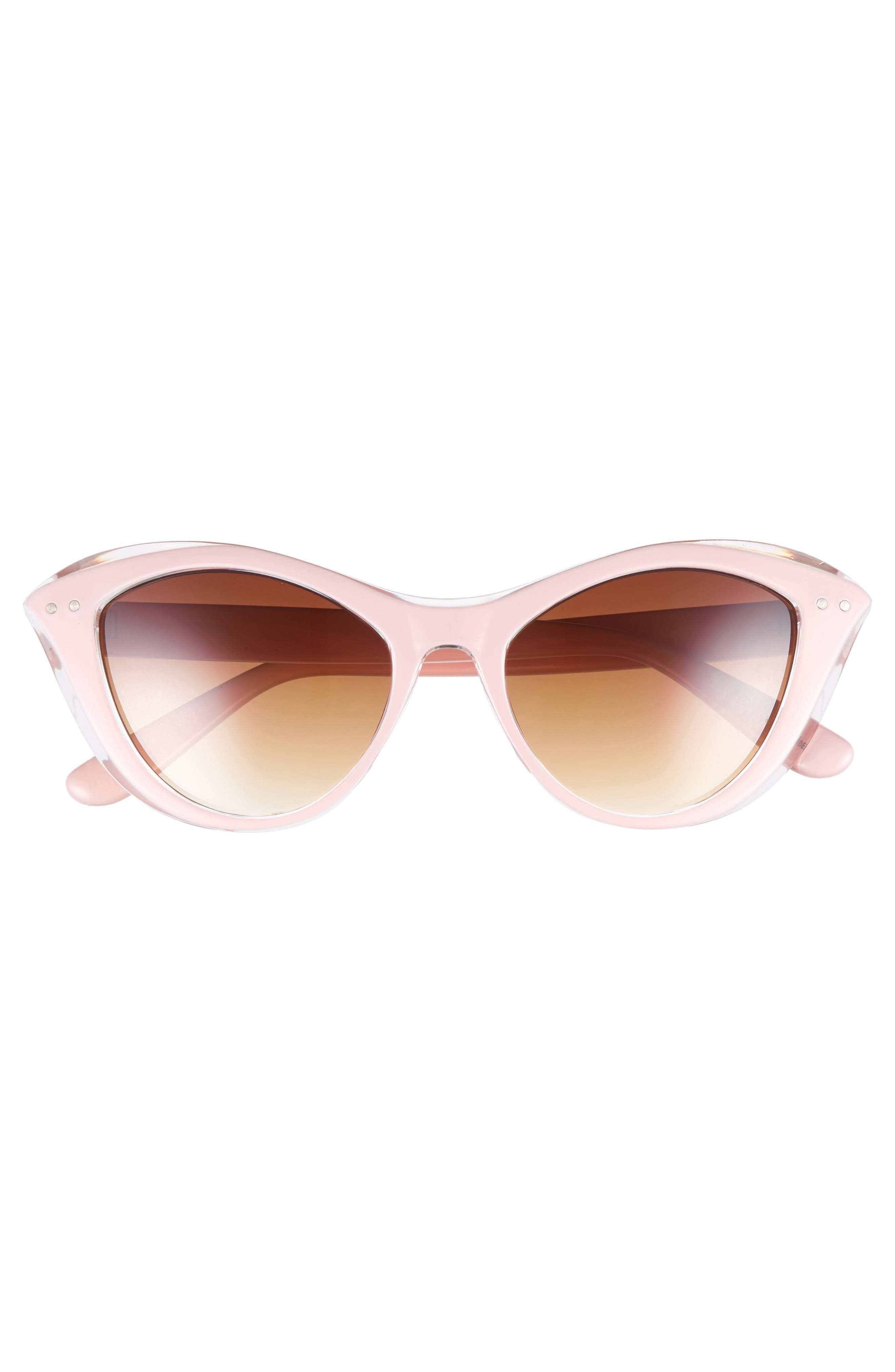 50mm Retro Cat Eye Sunglasses,                             Alternate thumbnail 3, color,                             Pink