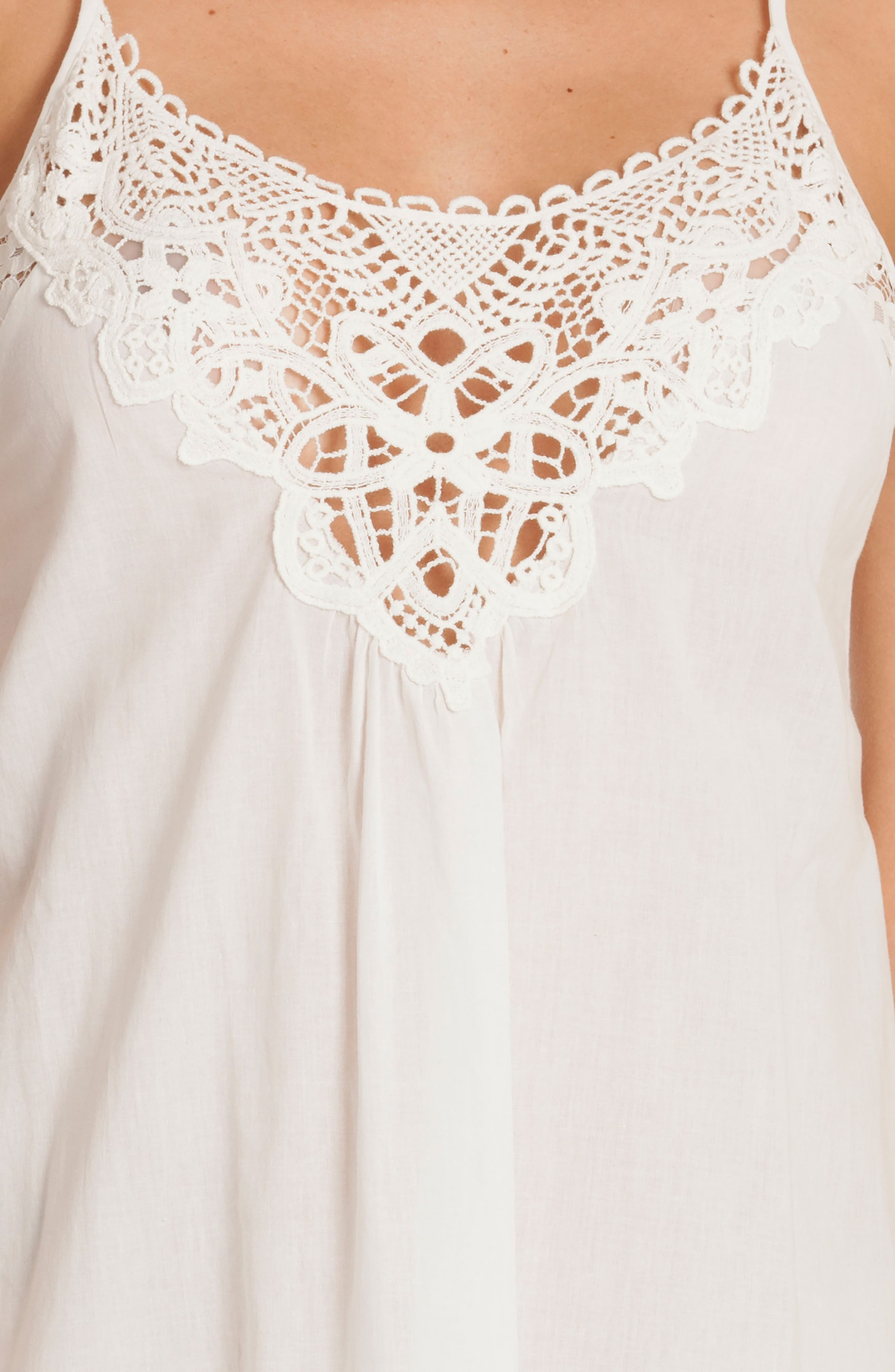 Nightgown,                             Alternate thumbnail 4, color,                             Ivory/ Beige