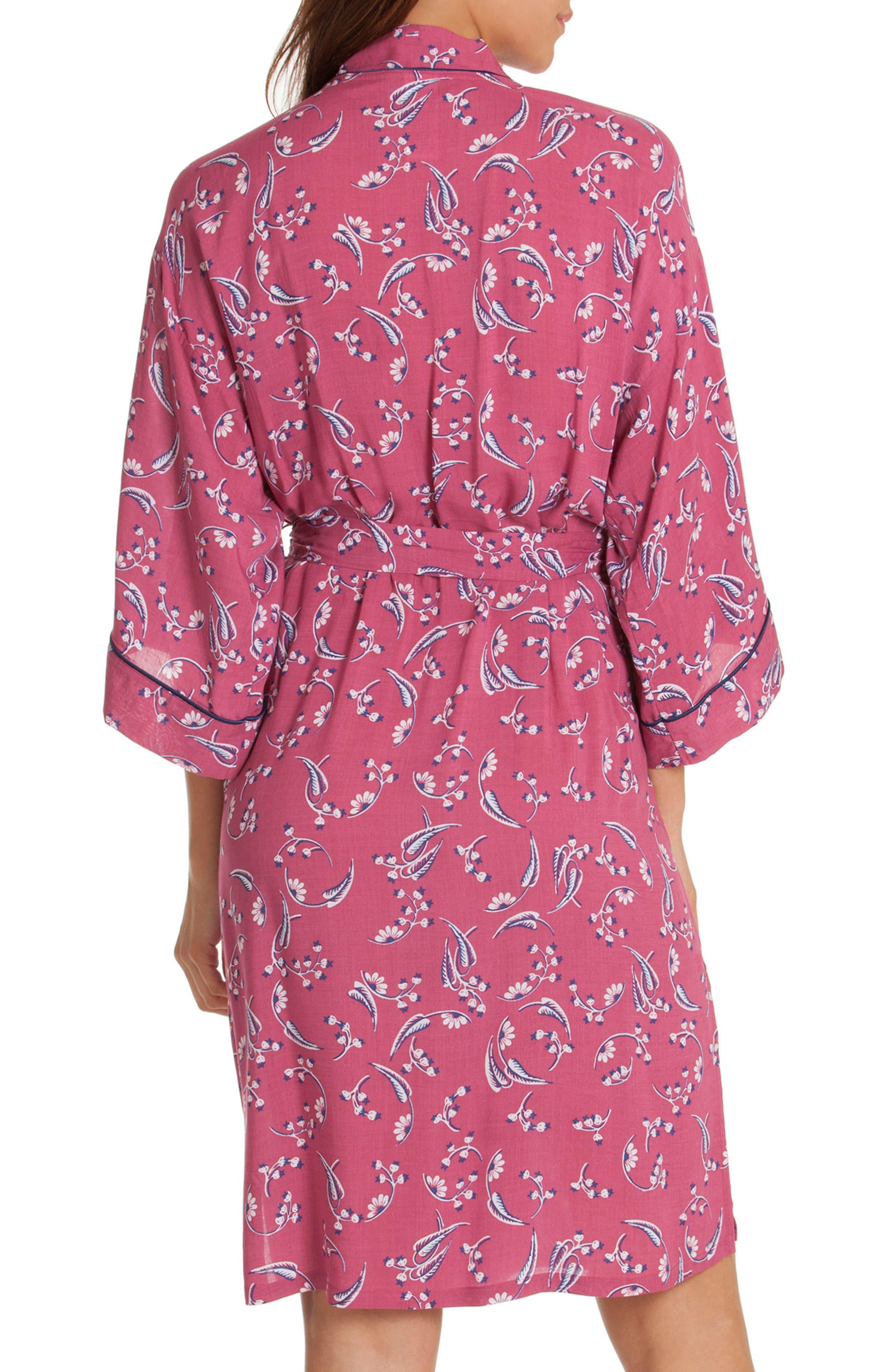 Short Robe,                             Alternate thumbnail 2, color,                             Cherry Print