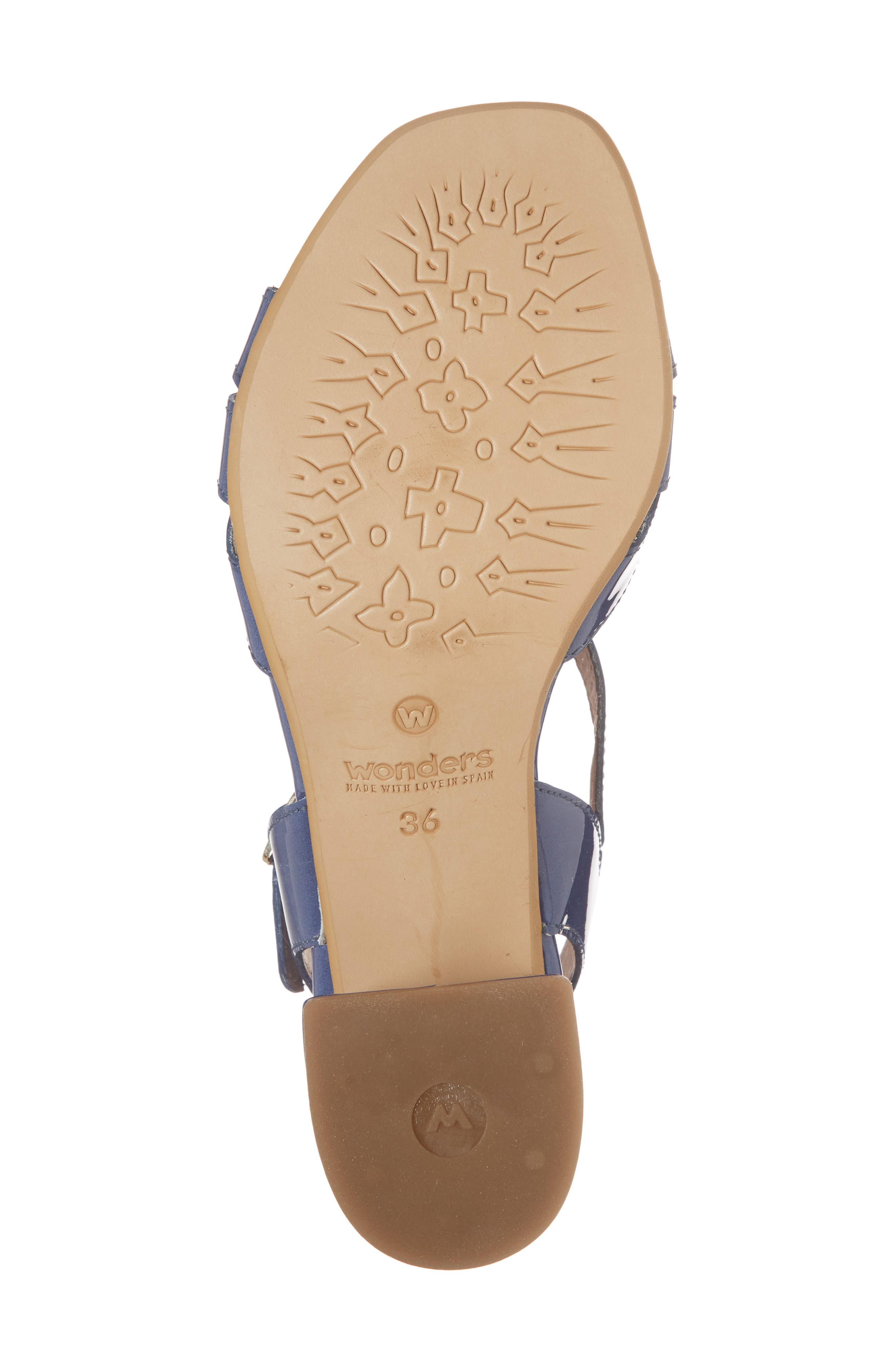 Block Heel Sandal,                             Alternate thumbnail 6, color,                             Jean Patent Leather