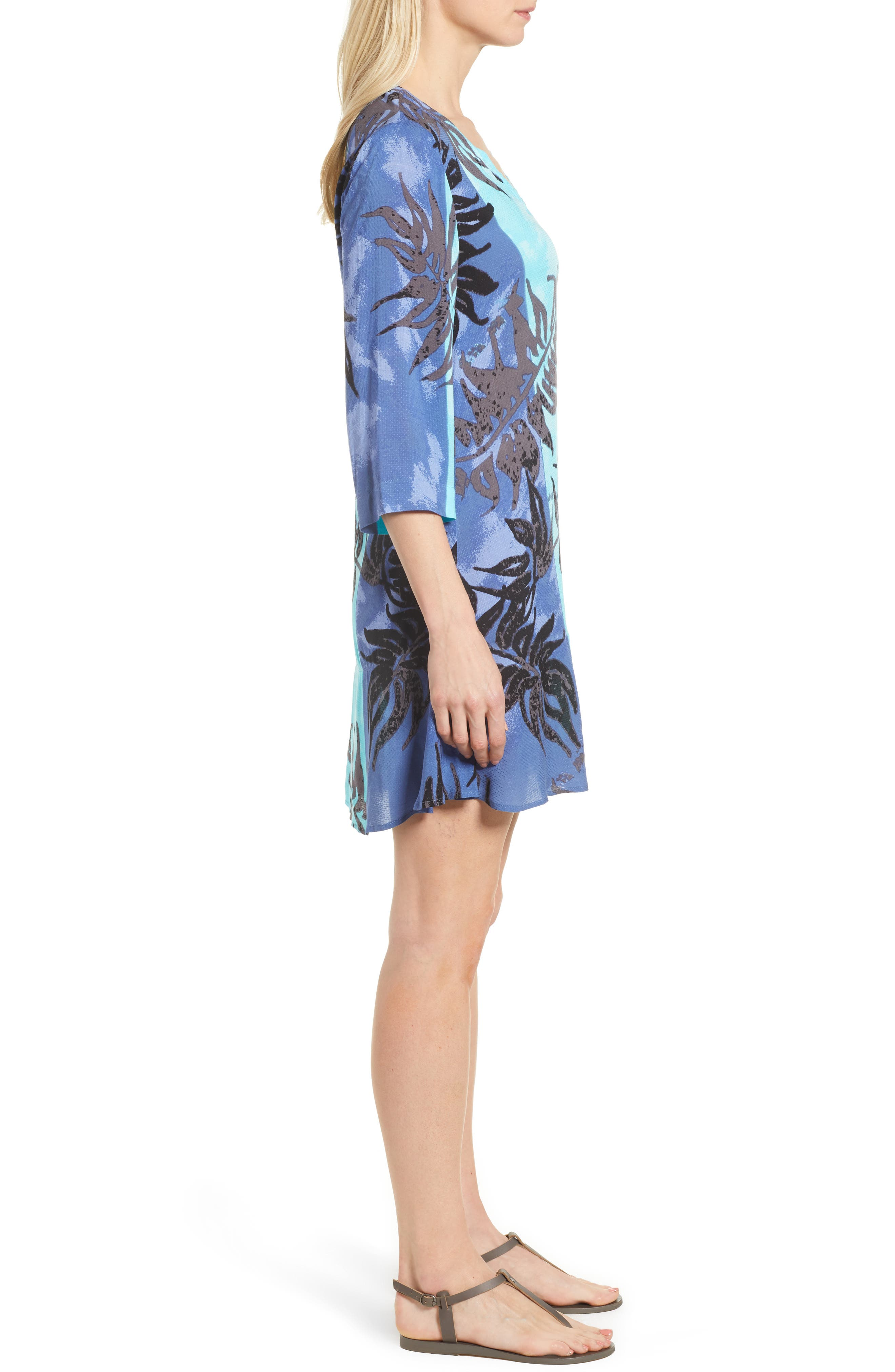 Under the Sun Tropical Print Dress,                             Alternate thumbnail 3, color,                             Multi