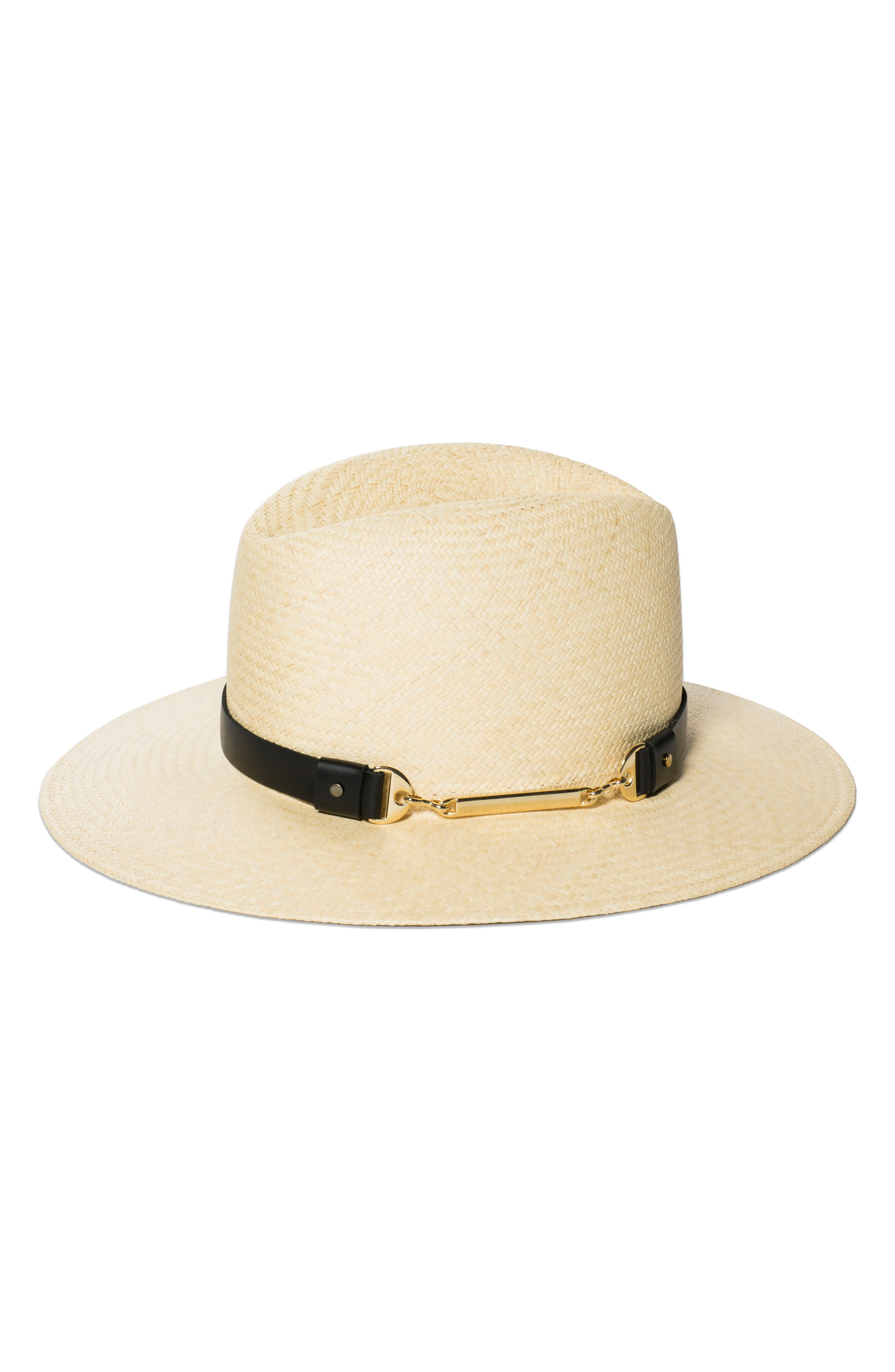 The Marlene Straw Panama Hat,                         Main,                         color, Natural