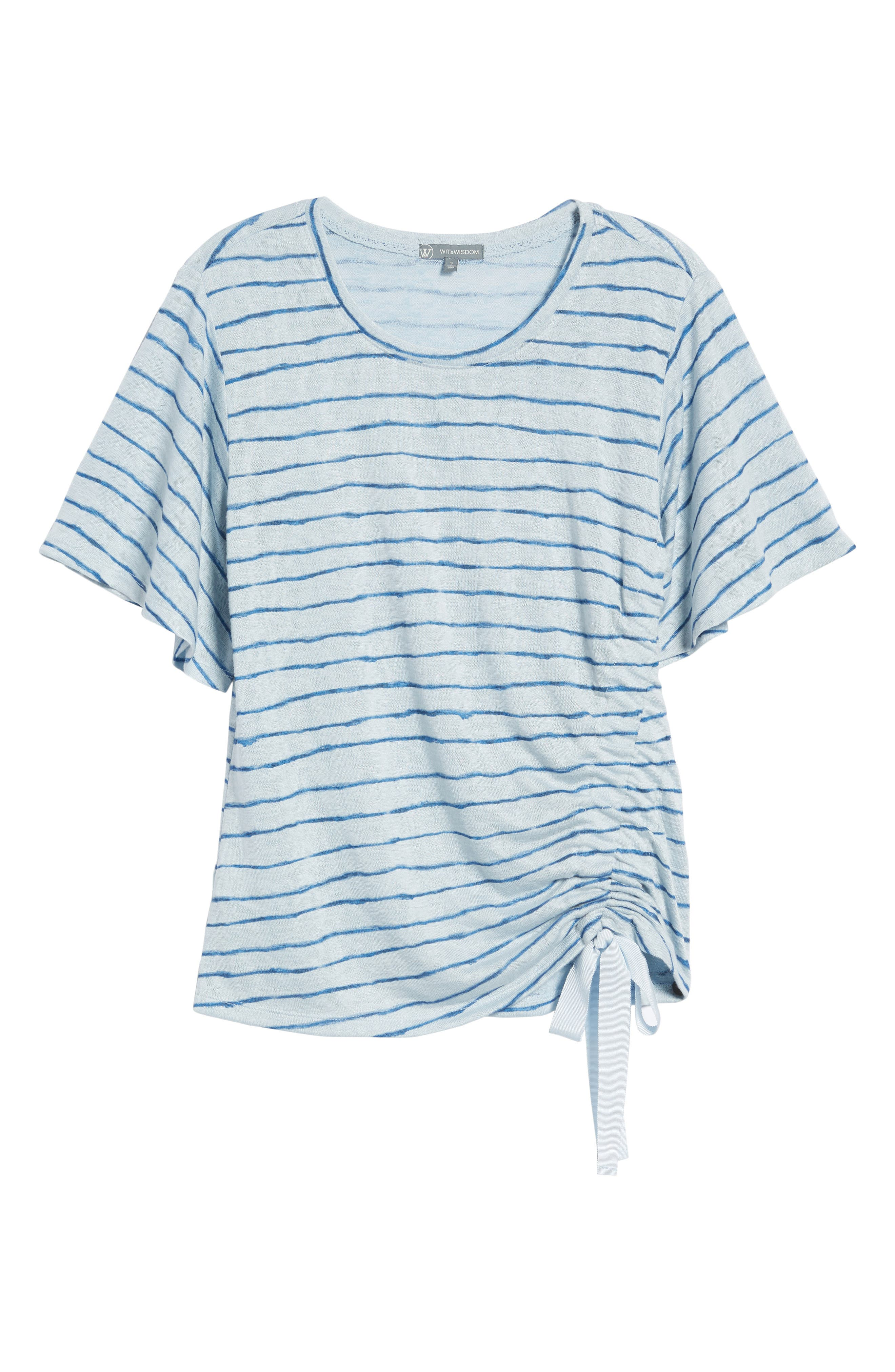 Ruched Side Ribbon Tee,                             Alternate thumbnail 7, color,                             Starlight