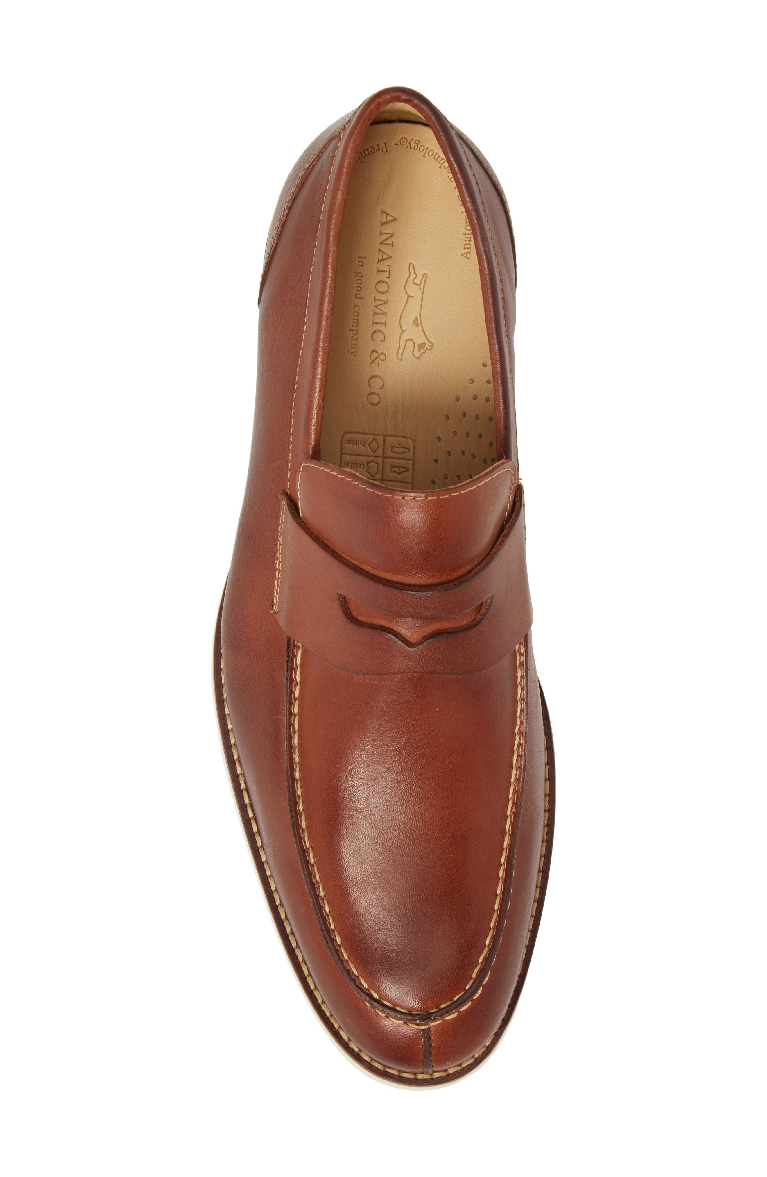 Senador Penny Loafer,                             Alternate thumbnail 5, color,                             Touch Havana Leather