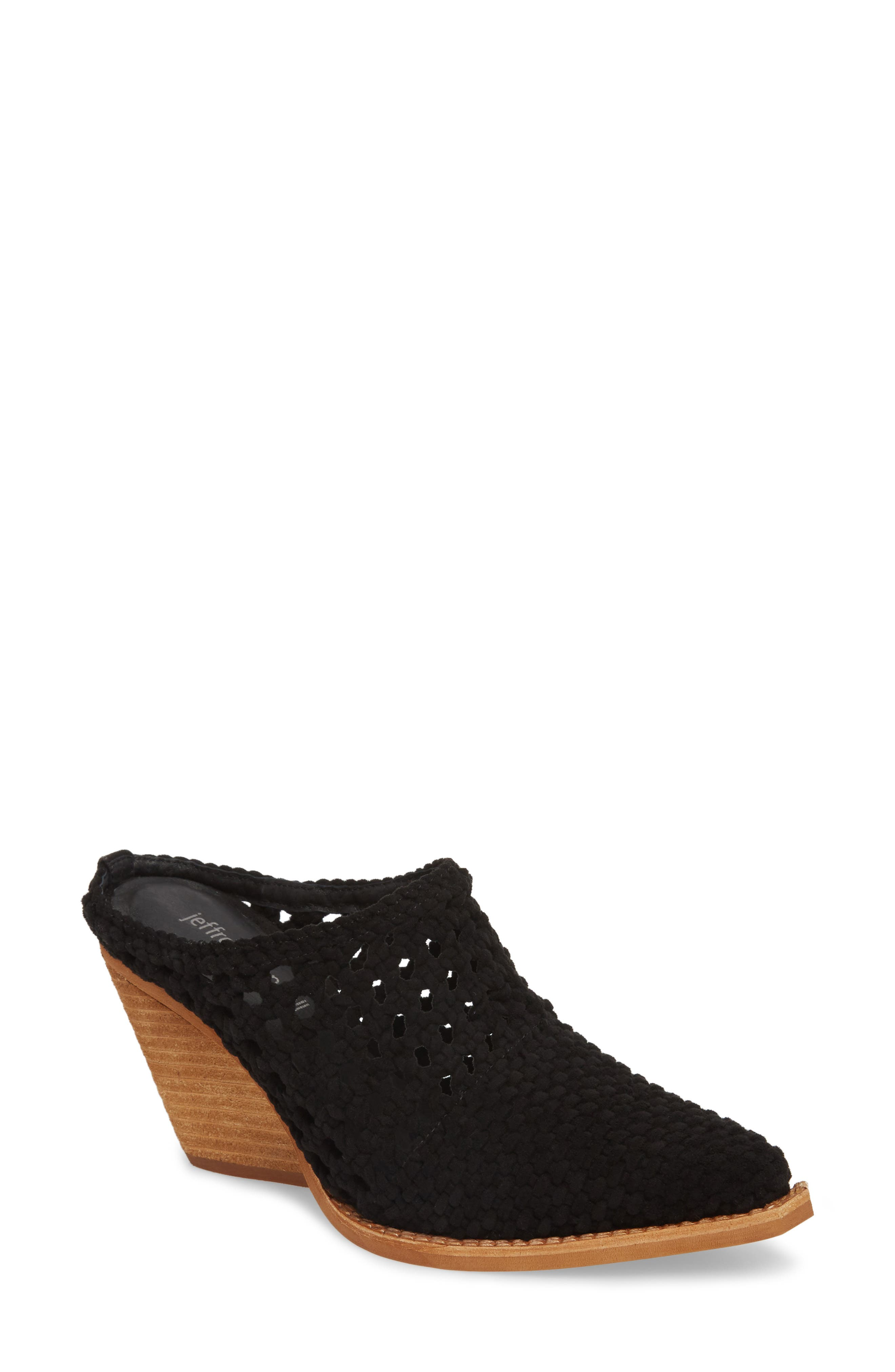 Leona 2 Pointy Toe Mule,                             Main thumbnail 1, color,                             Black Suede