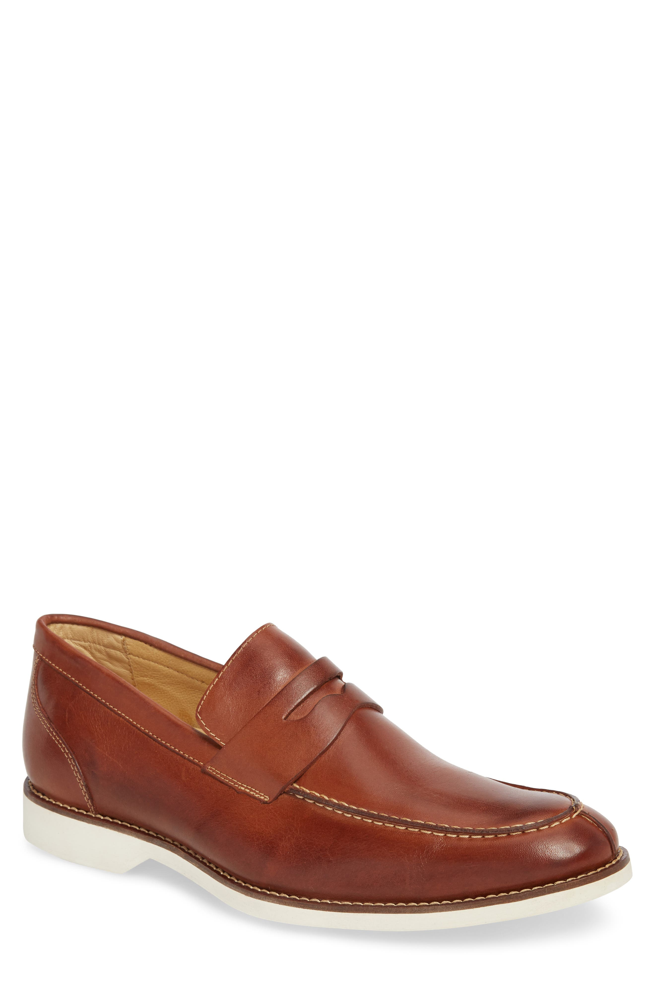 Senador Penny Loafer,                             Main thumbnail 1, color,                             Touch Havana Leather