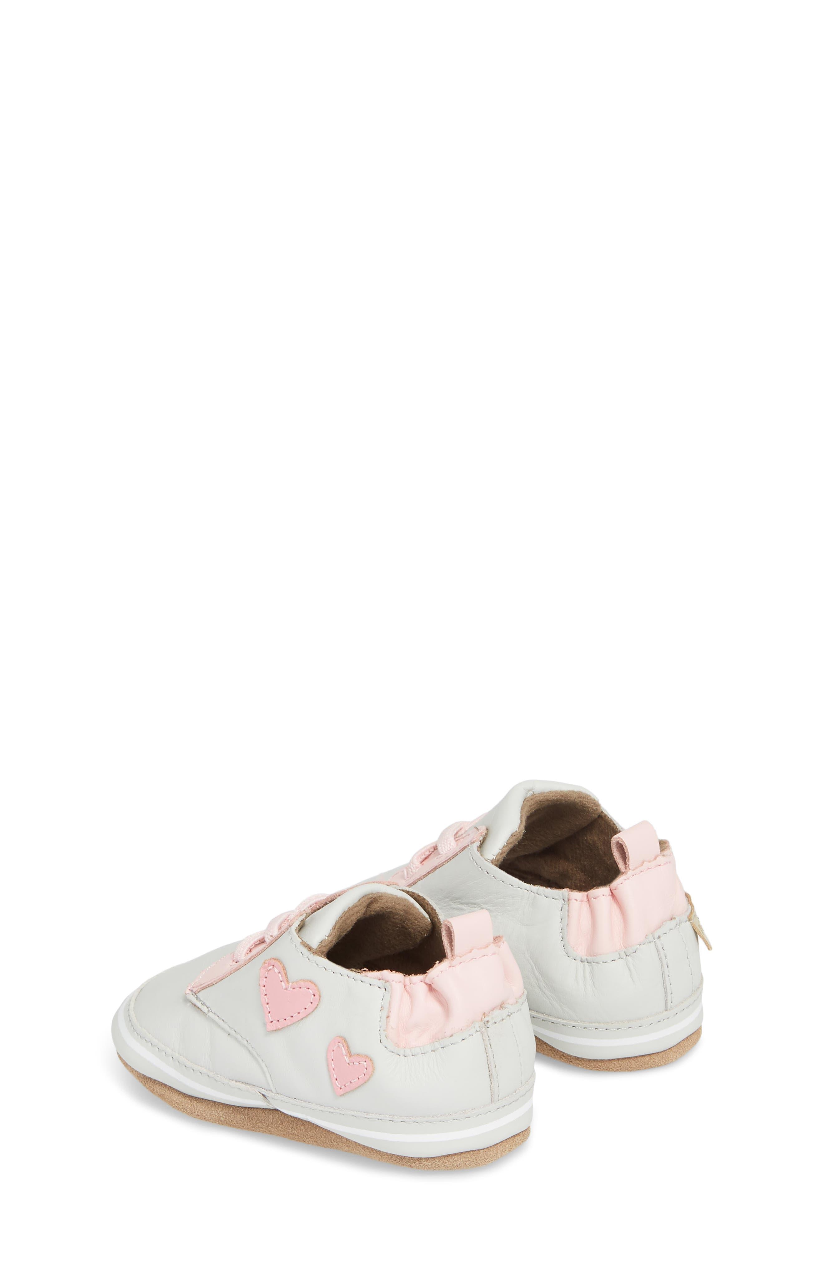 Alternate Image 2  - Robeez® Heartbreaker Slip-On Crib Sneaker (Baby & Walker)