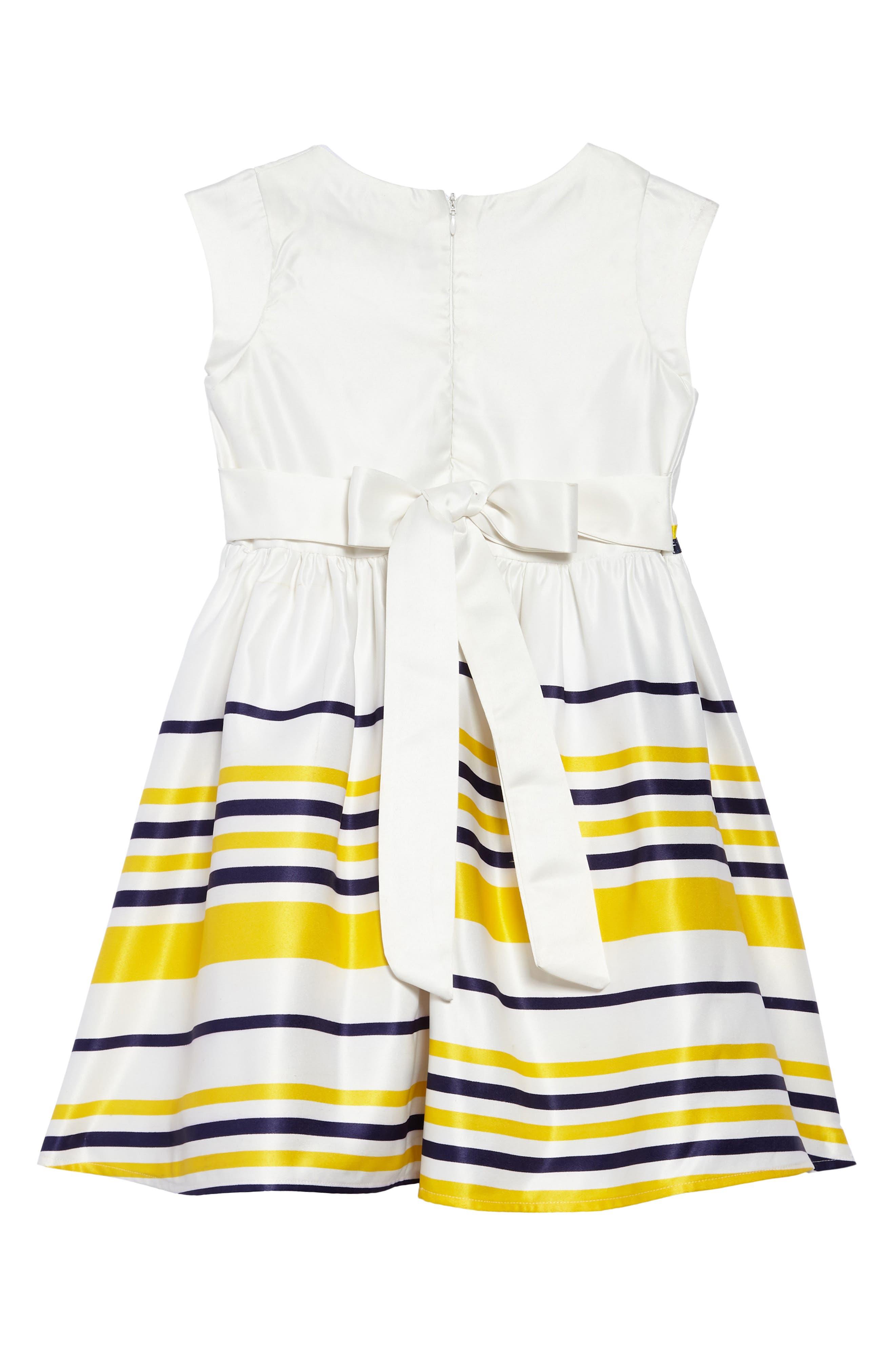 Carly Sleeveless Dress,                             Alternate thumbnail 2, color,                             White/ Multi