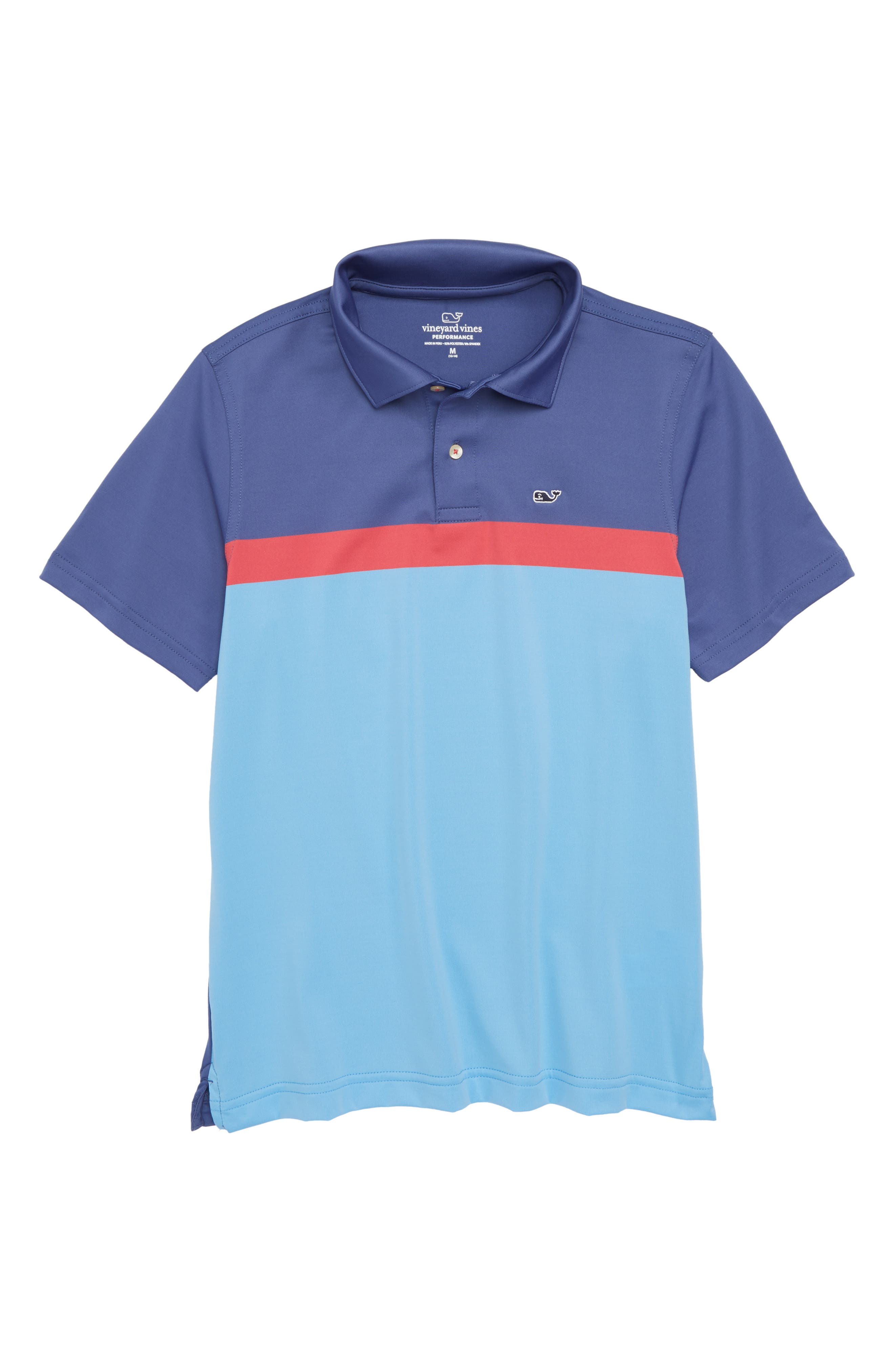 vineyard vines Engineer Stripe Performance Polo (Toddler Boys & Little Boys)
