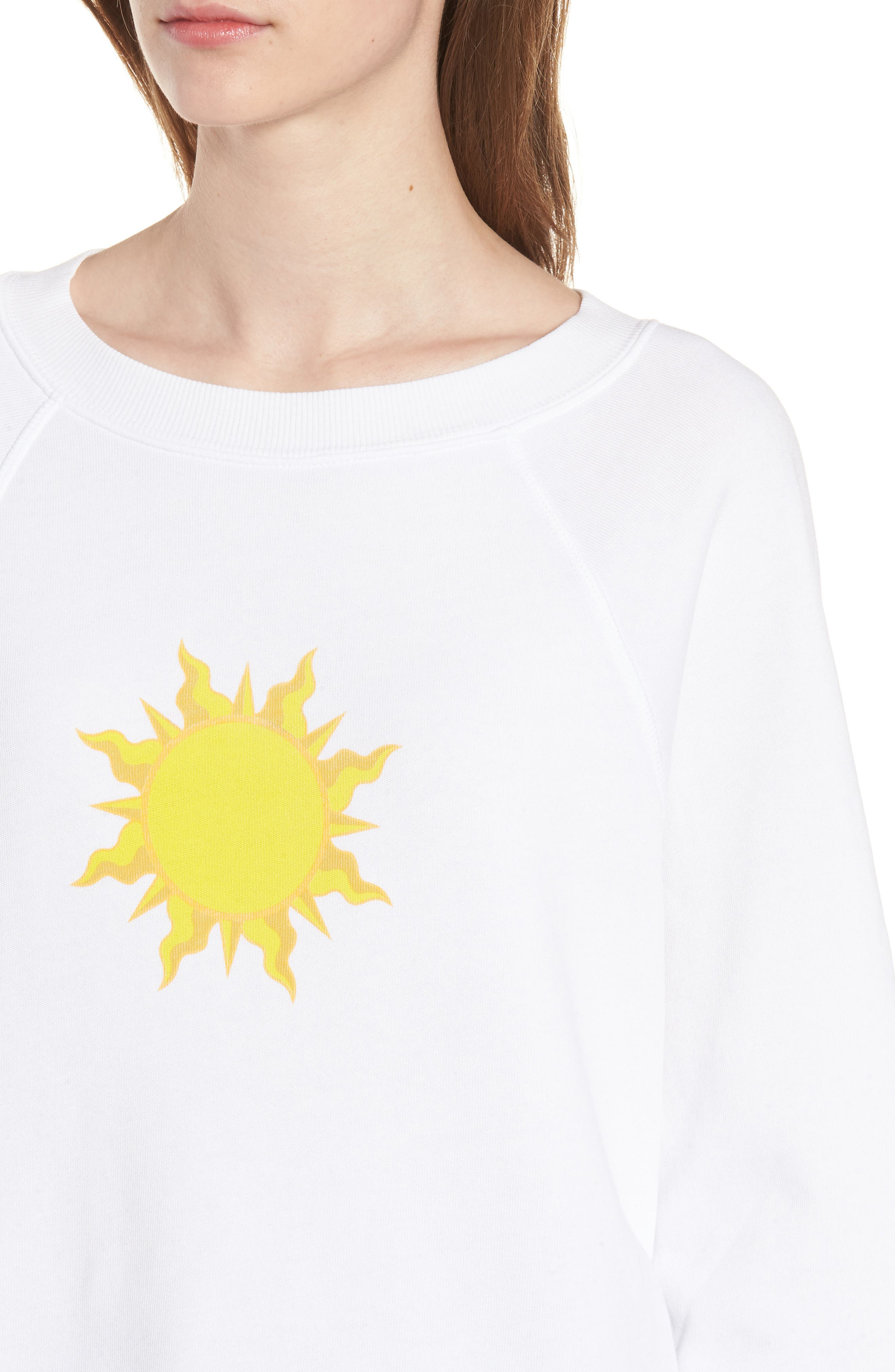 Sunny Disposition Sommers Sweatshirt,                             Alternate thumbnail 4, color,                             Clean White