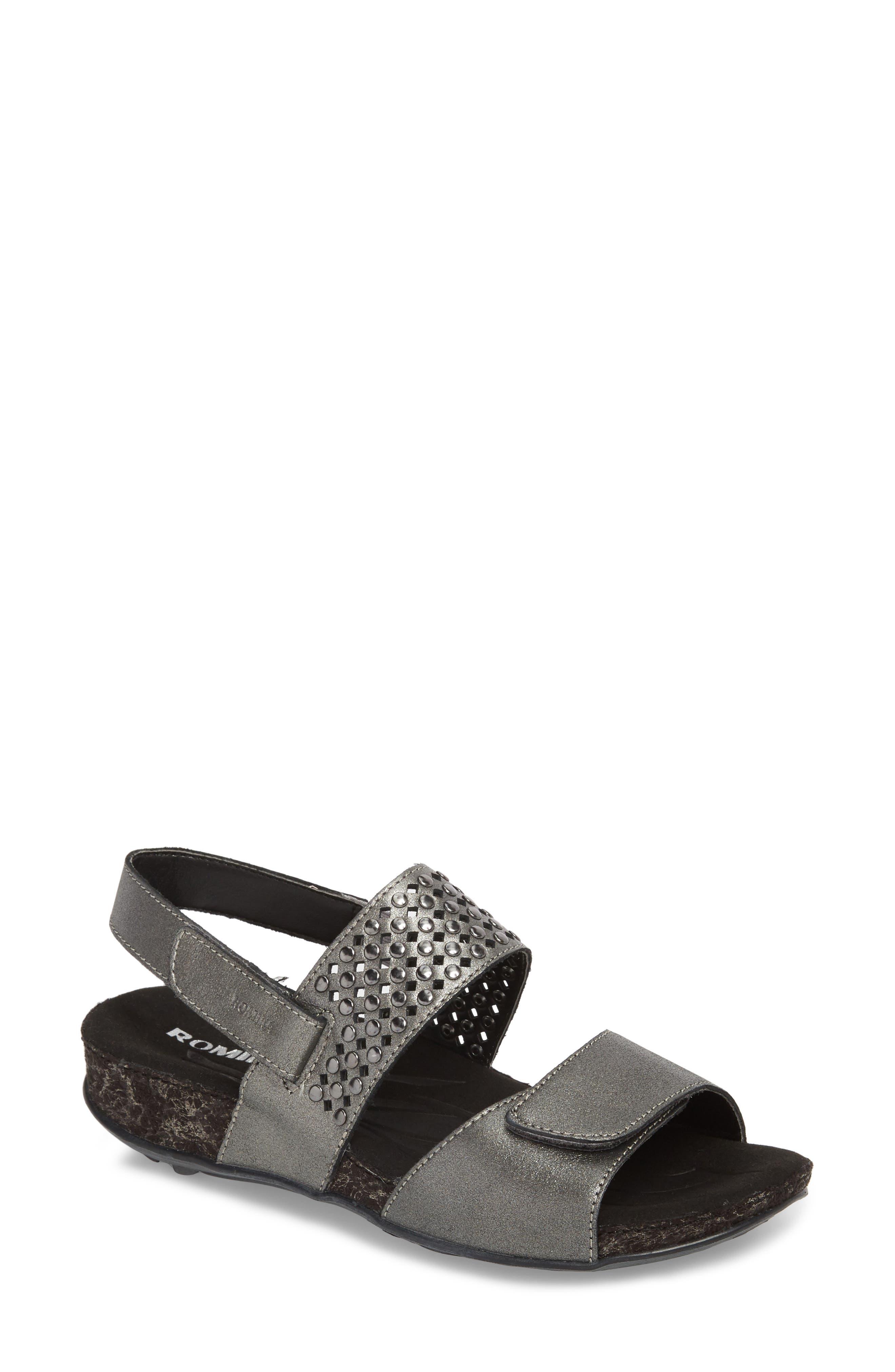 Fidschi 49 Sandal,                             Main thumbnail 1, color,                             Anthrazit Leather