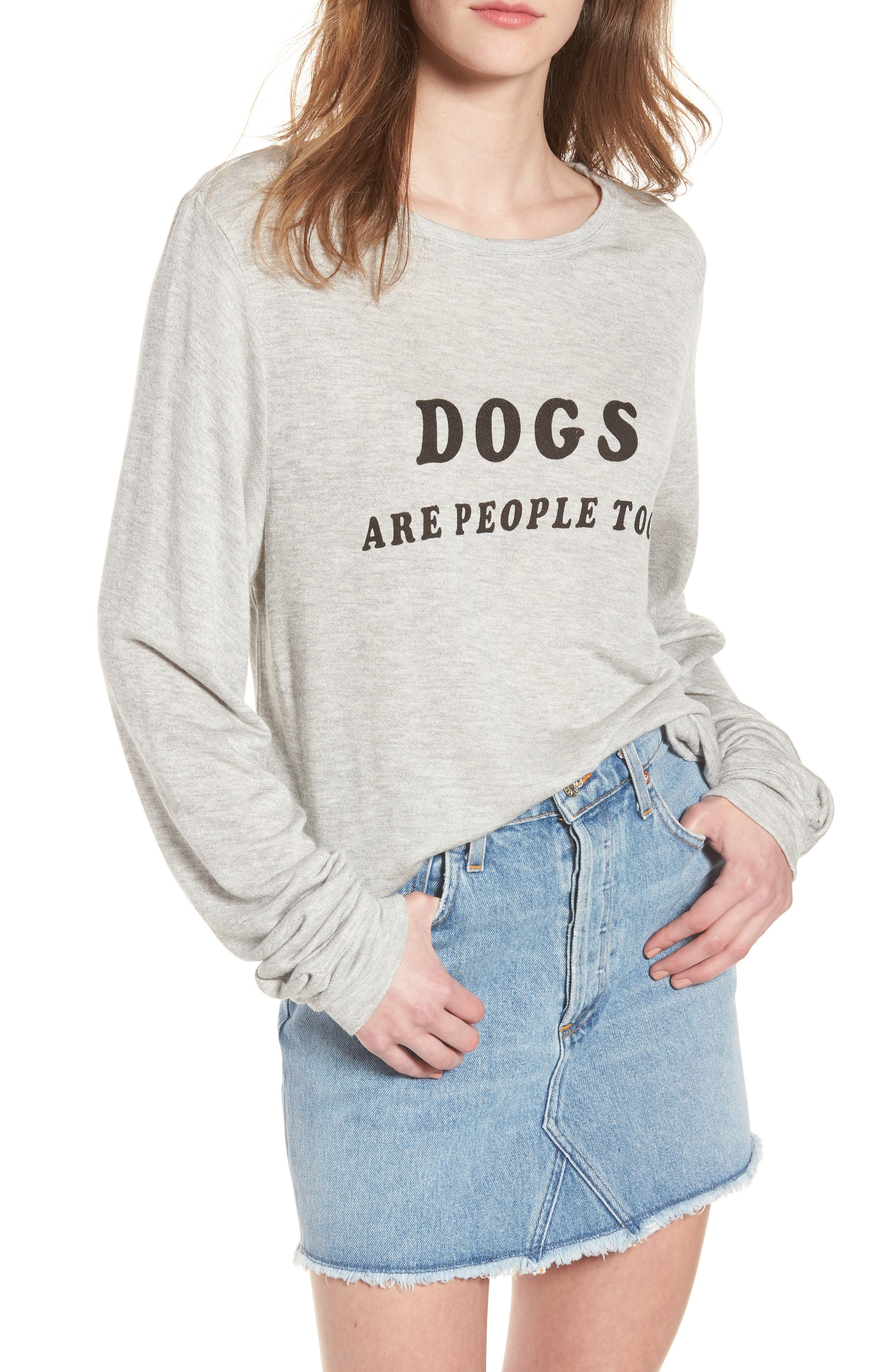 Dogs - Baggy Beach Jumper Pullover,                             Main thumbnail 1, color,                             Heather