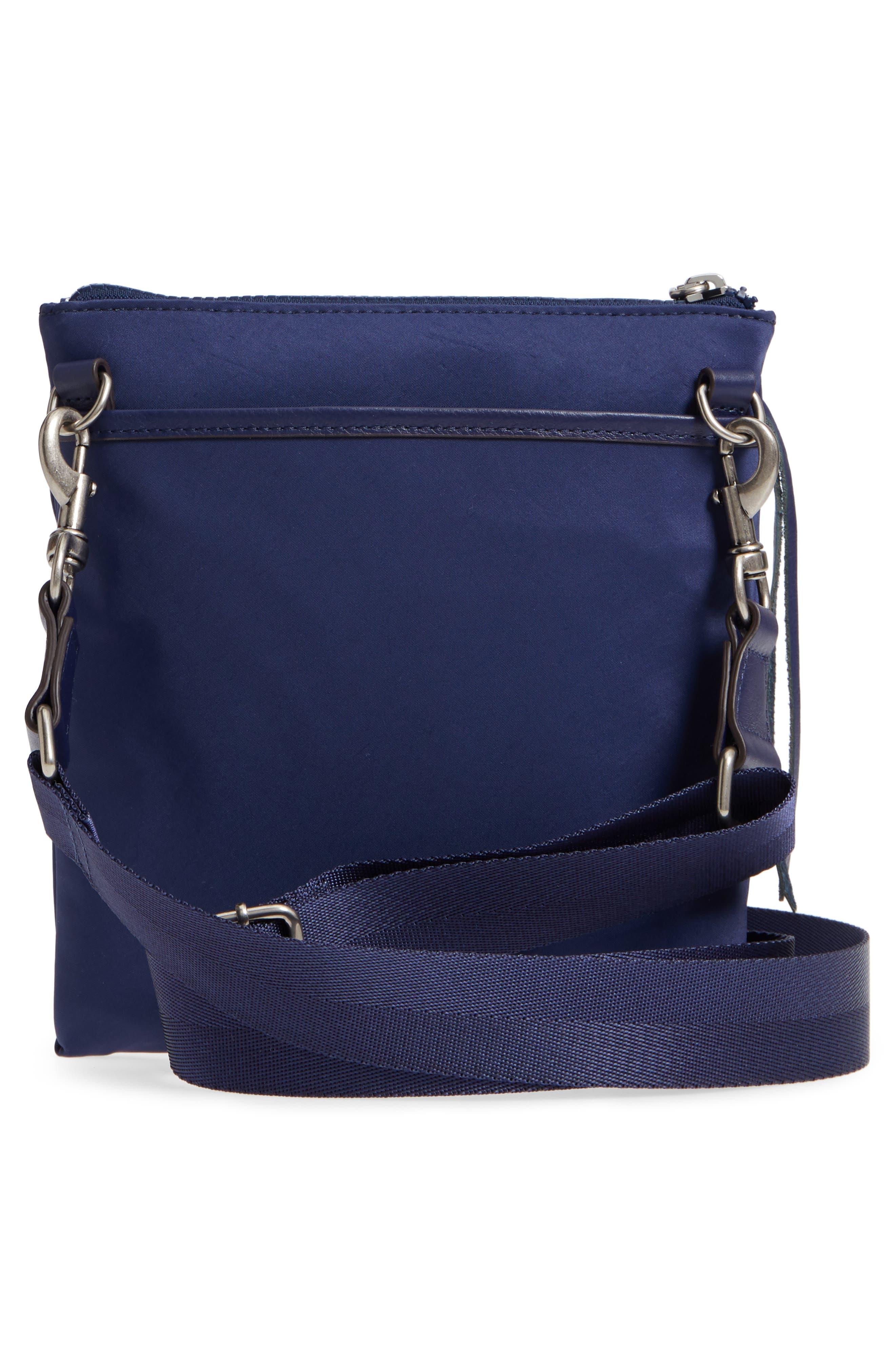 Nylon Flap Crossbody Bag,                             Alternate thumbnail 3, color,                             True Navy