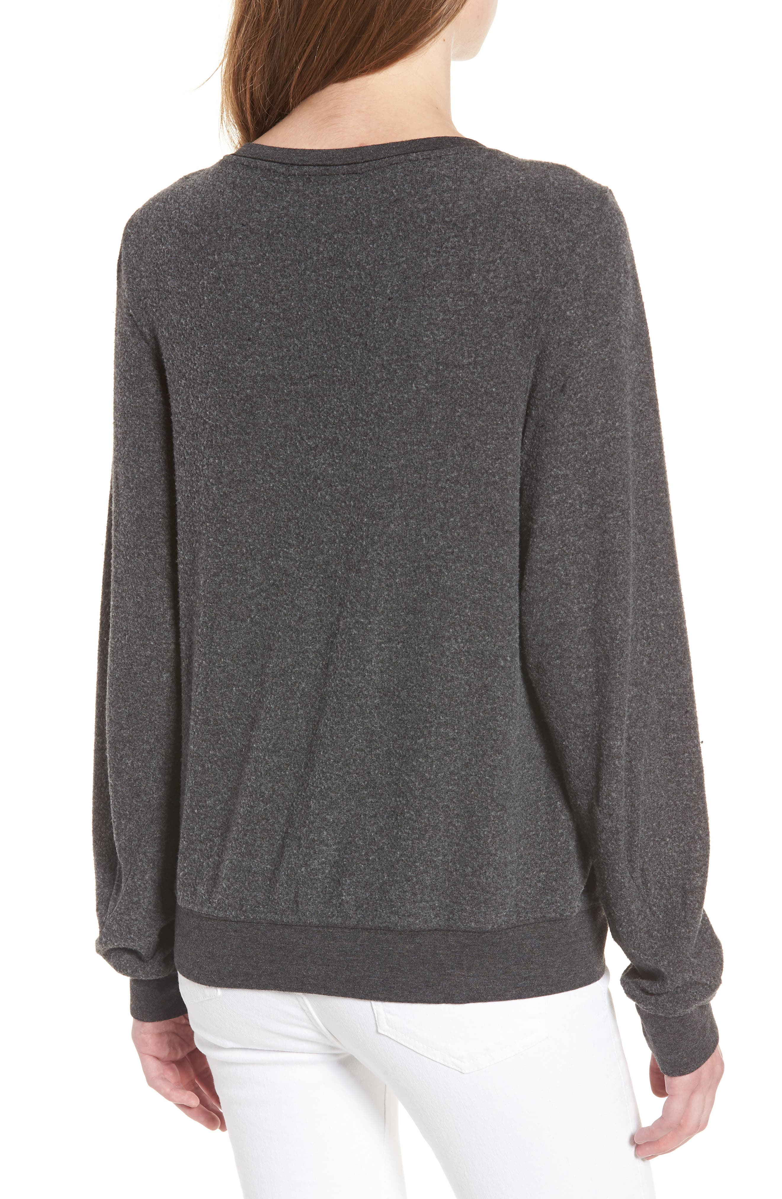 Never on Time Baggy Beach Jumper Pullover,                             Alternate thumbnail 2, color,                             Black