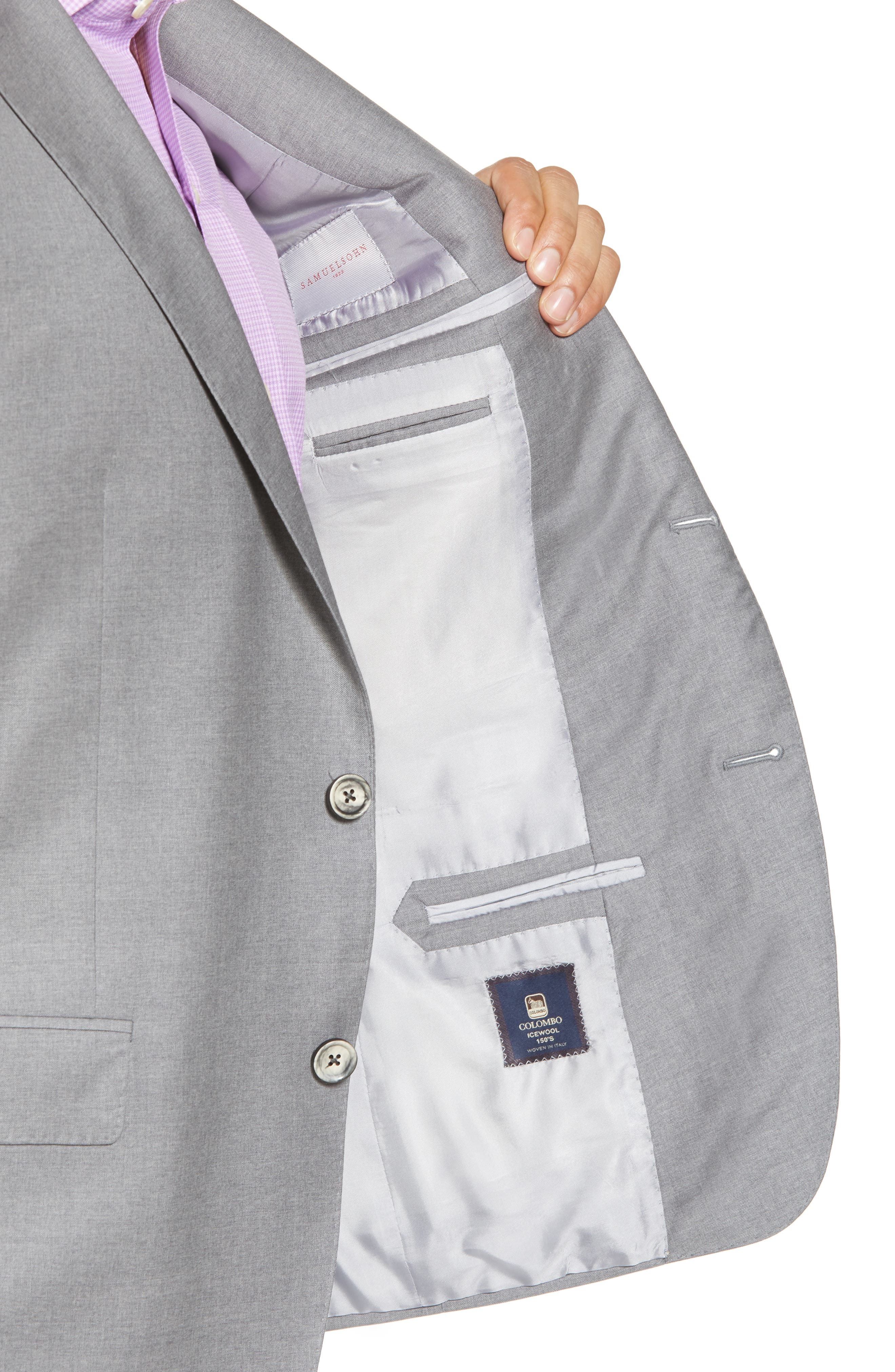 Bennet Classic Fit Solid Wool Suit,                             Alternate thumbnail 4, color,                             Light Grey