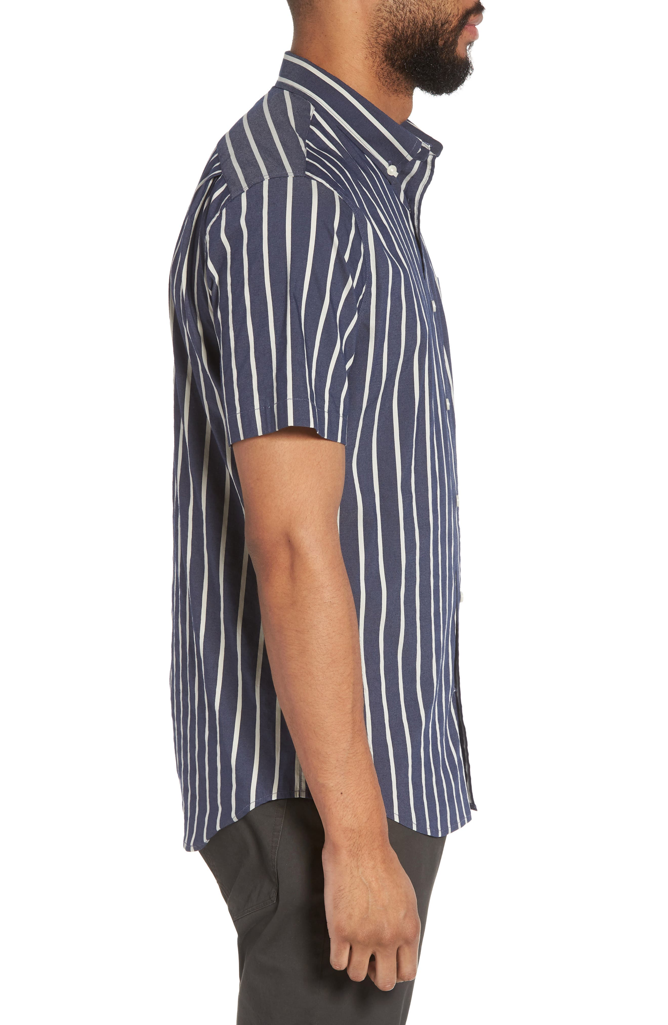 Regular Fit Stretch Short Sleeve Sport Shirt,                             Alternate thumbnail 4, color,                             New Coastal