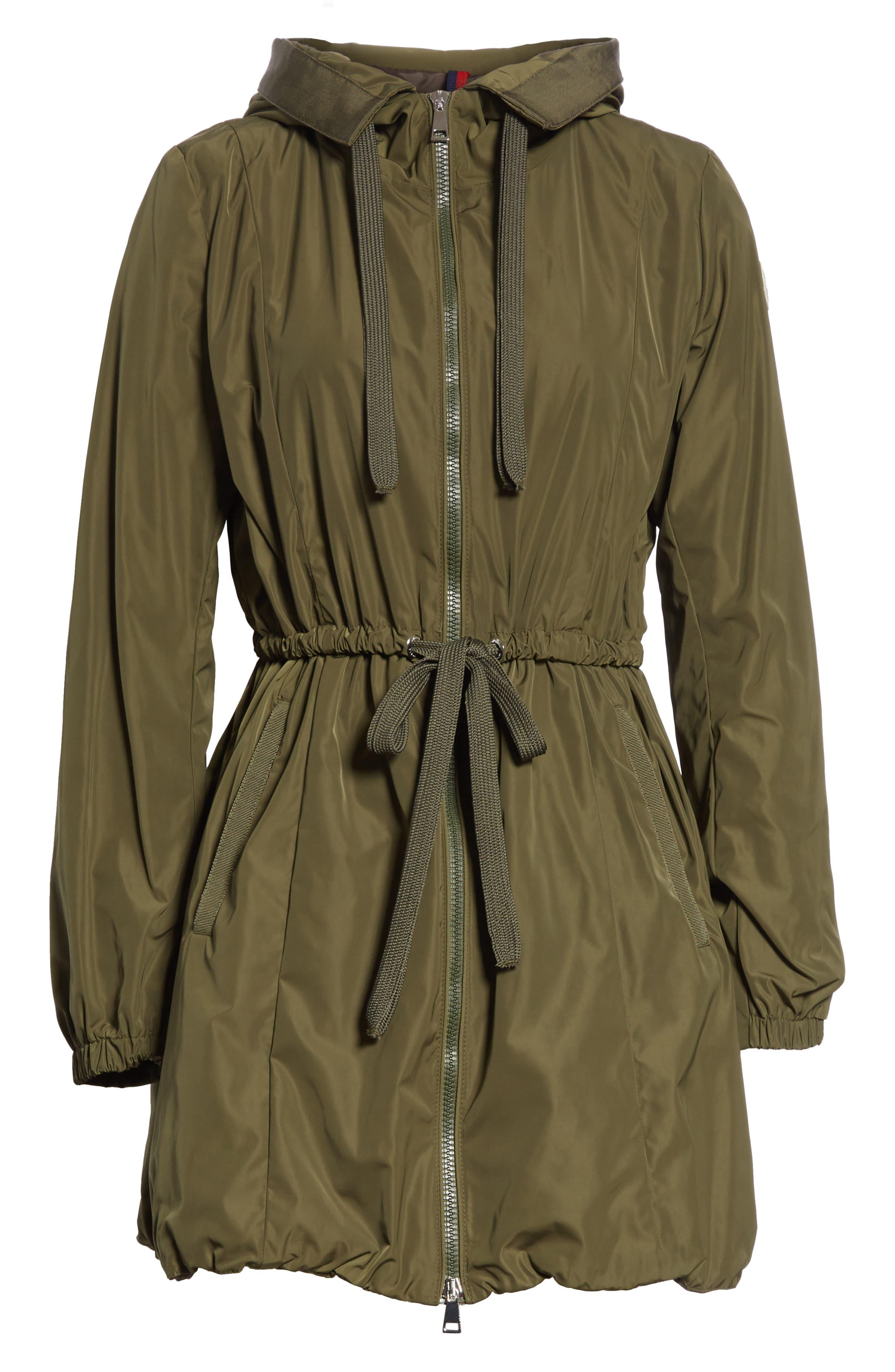 Topaze Water Resistant Hooded Jacket,                             Alternate thumbnail 6, color,                             Olive
