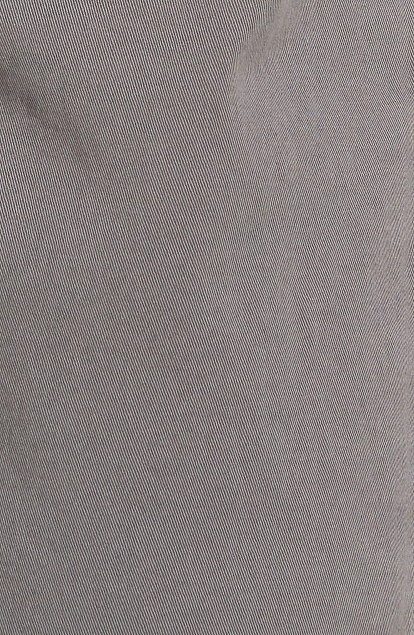 Hudson Clint Stretch Chino Pants,                             Alternate thumbnail 5, color,                             Grey