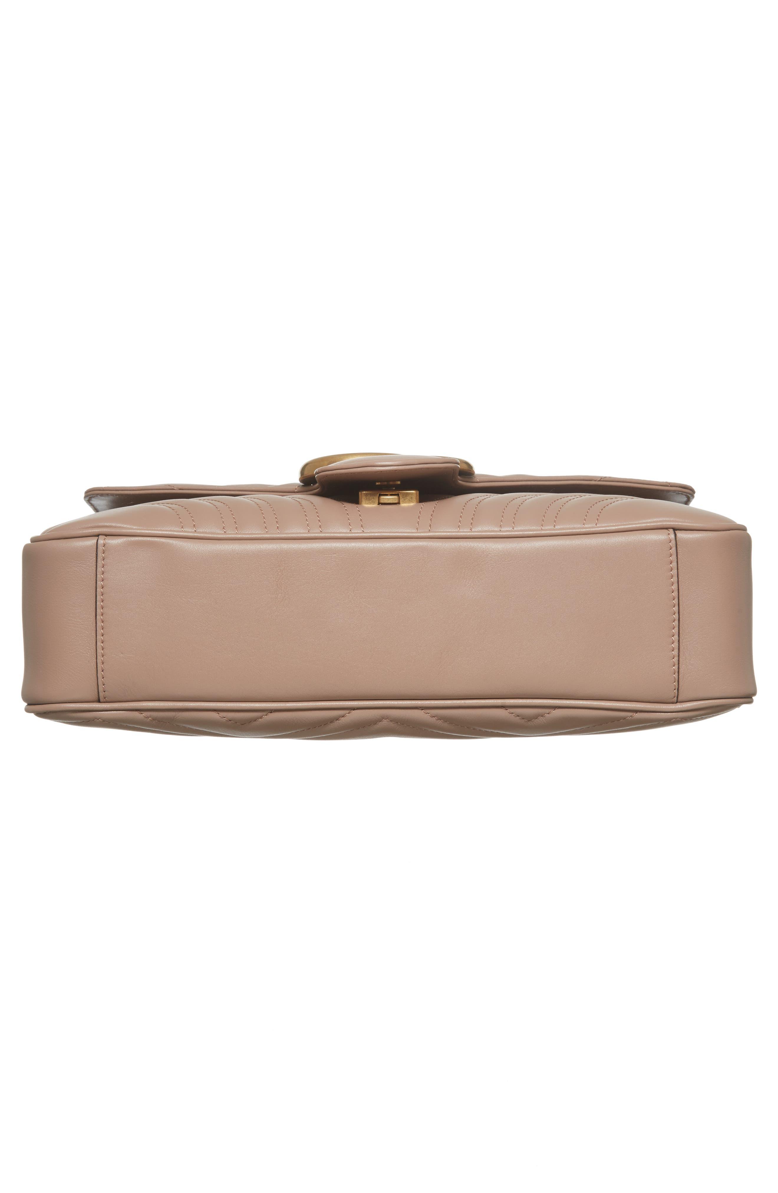 Medium GG Marmont 2.0 Matelassé Leather Shoulder Bag,                             Alternate thumbnail 6, color,                             Porcelain Rose