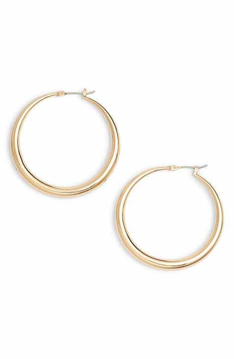 Halogen Medium Graduated Hoop Earrings