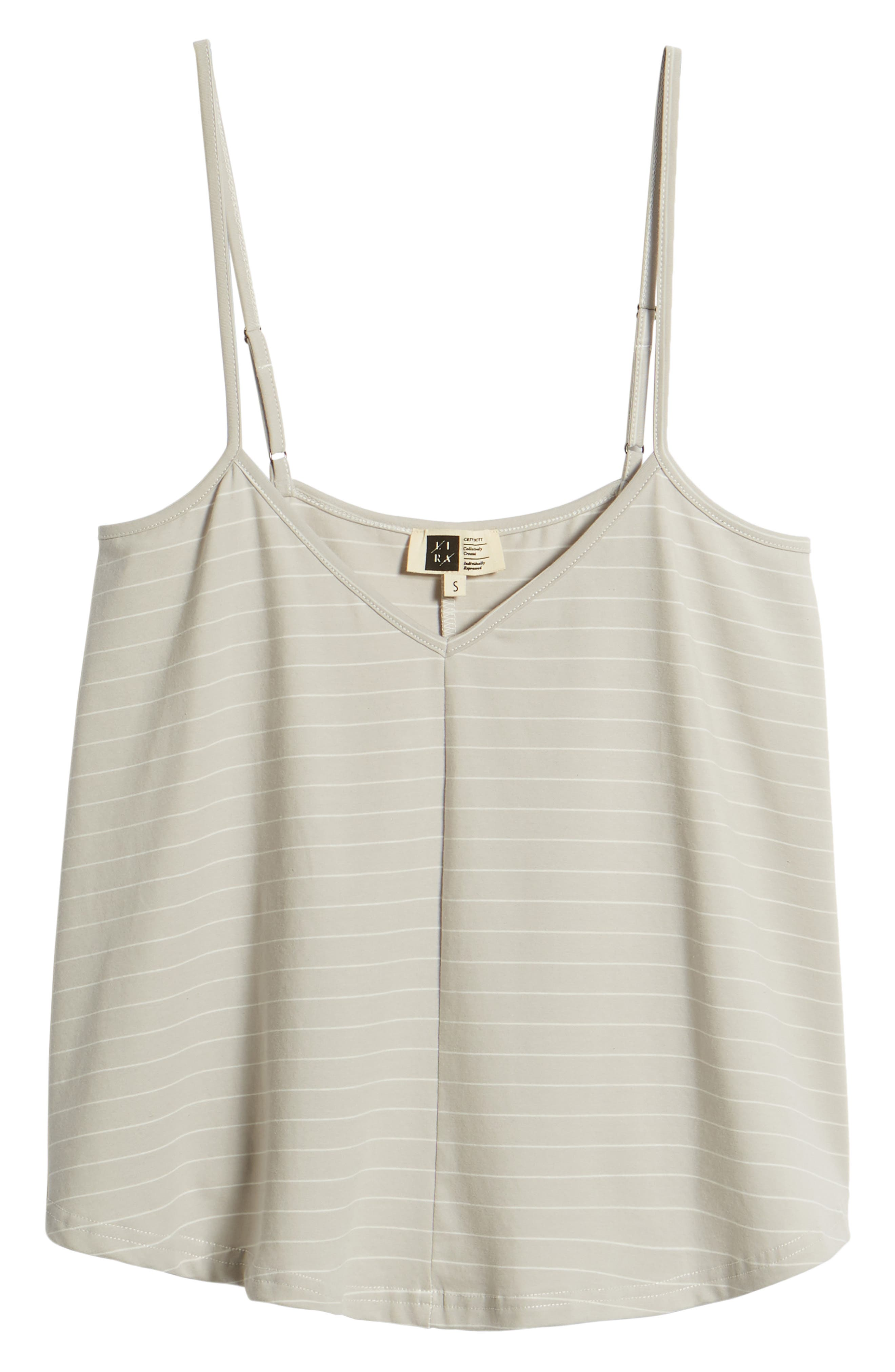 Harlow Stripe Camisole Top,                             Alternate thumbnail 8, color,                             Pewter